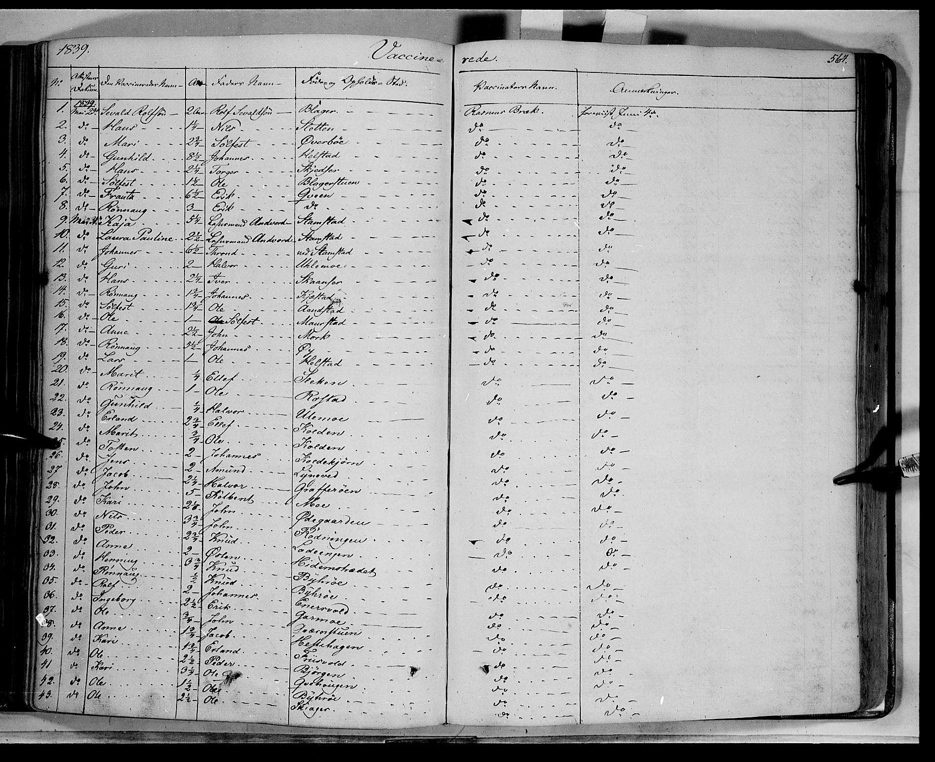SAH, Lom prestekontor, K/L0006: Ministerialbok nr. 6B, 1837-1863, s. 564