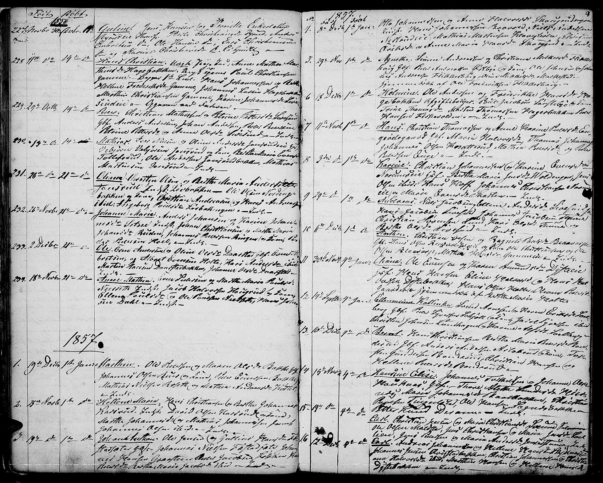 SAH, Vestre Toten prestekontor, Klokkerbok nr. 5, 1854-1870, s. 27