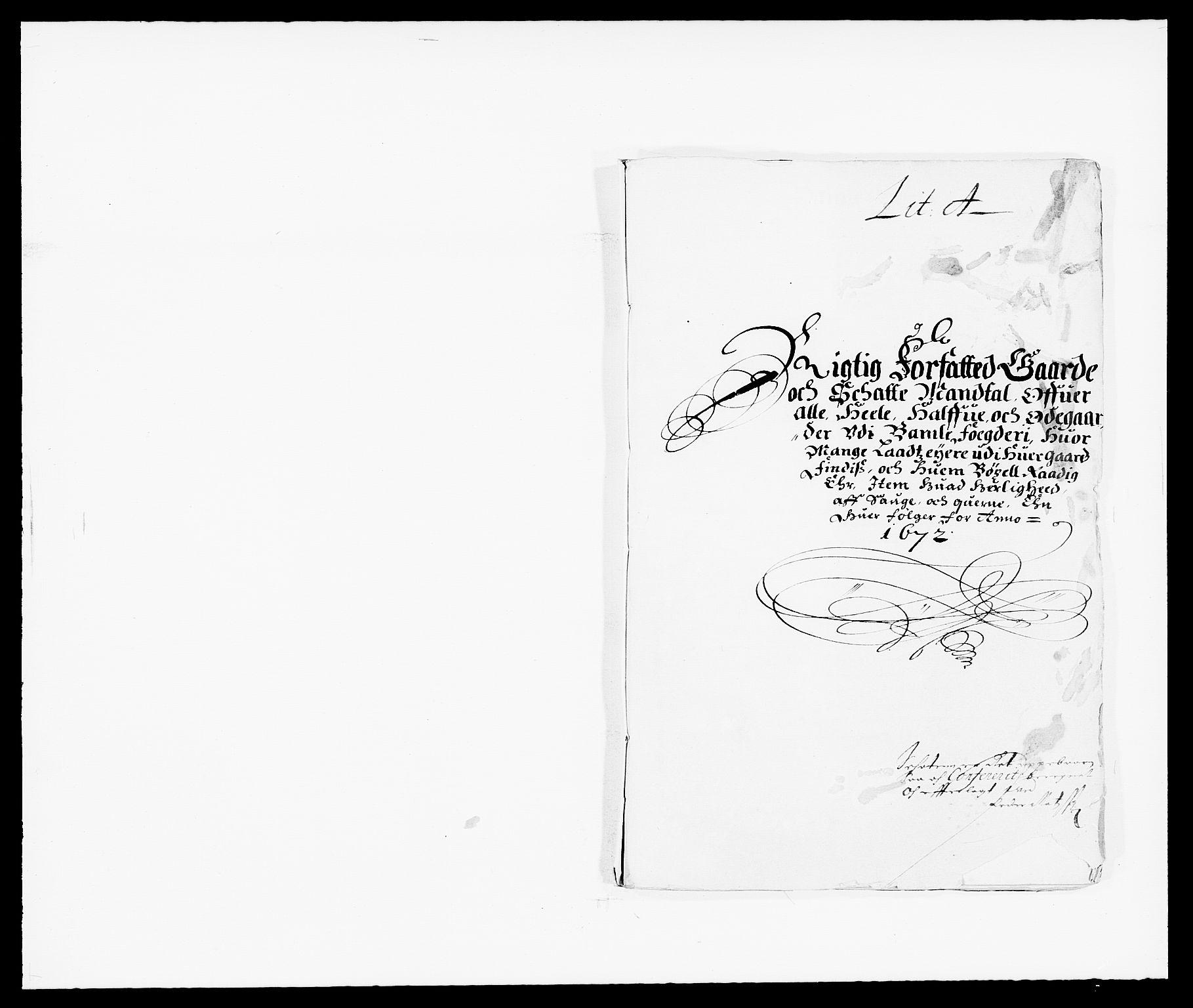 RA, Rentekammeret inntil 1814, Reviderte regnskaper, Fogderegnskap, R34/L2041: Fogderegnskap Bamble, 1670-1672, s. 257