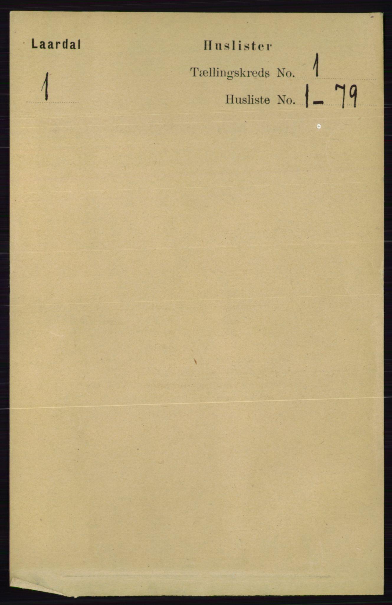 RA, Folketelling 1891 for 0833 Lårdal herred, 1891, s. 17
