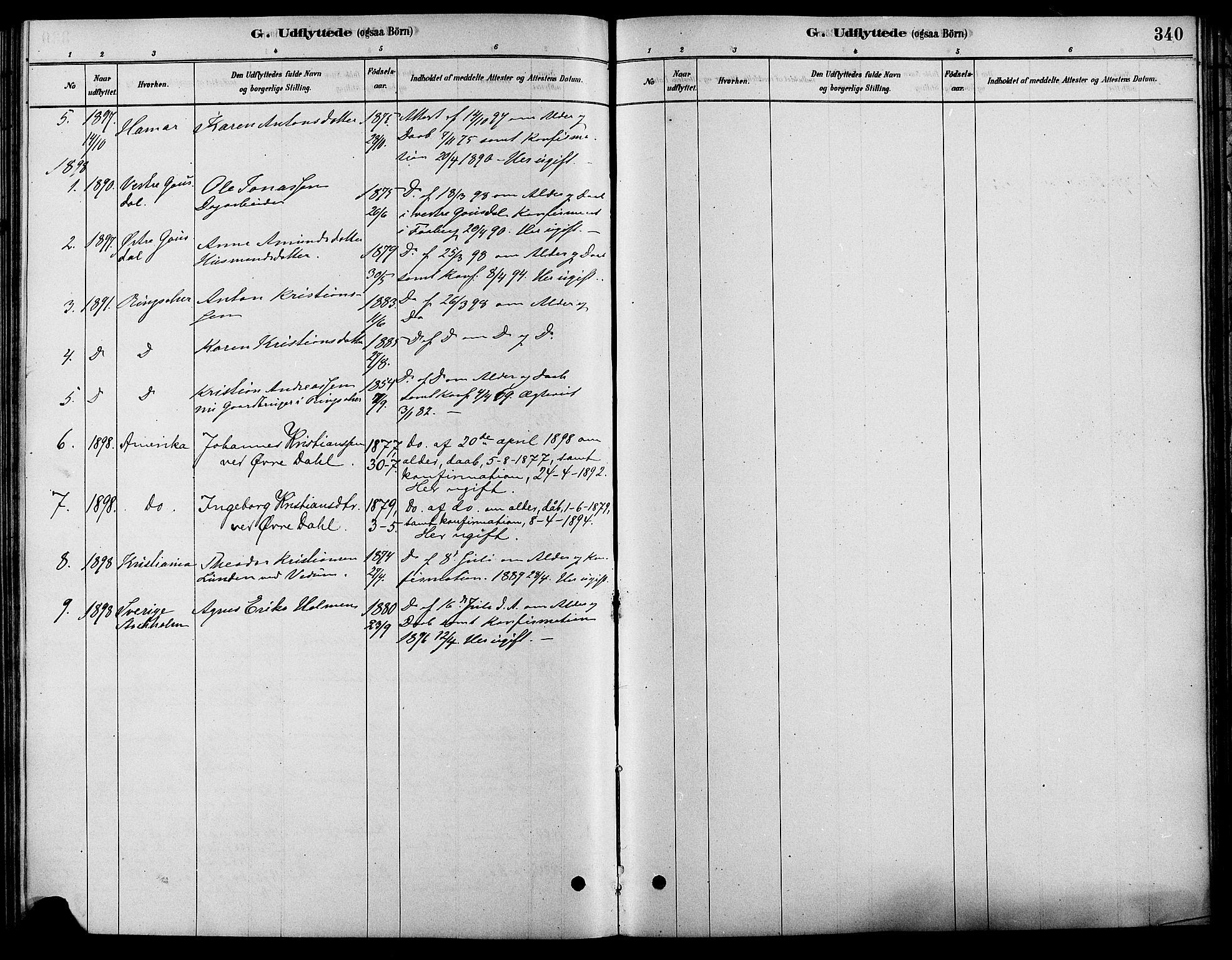 SAH, Fåberg prestekontor, Ministerialbok nr. 8, 1879-1898, s. 340