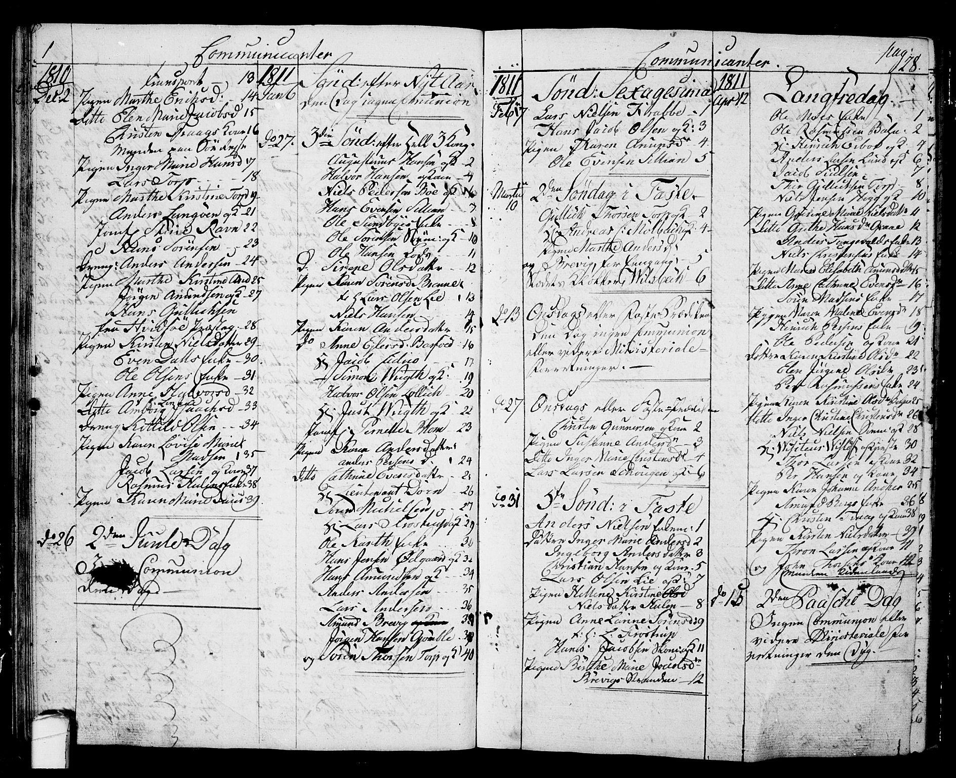 SAKO, Langesund kirkebøker, G/Ga/L0002: Klokkerbok nr. 2, 1801-1815, s. 28