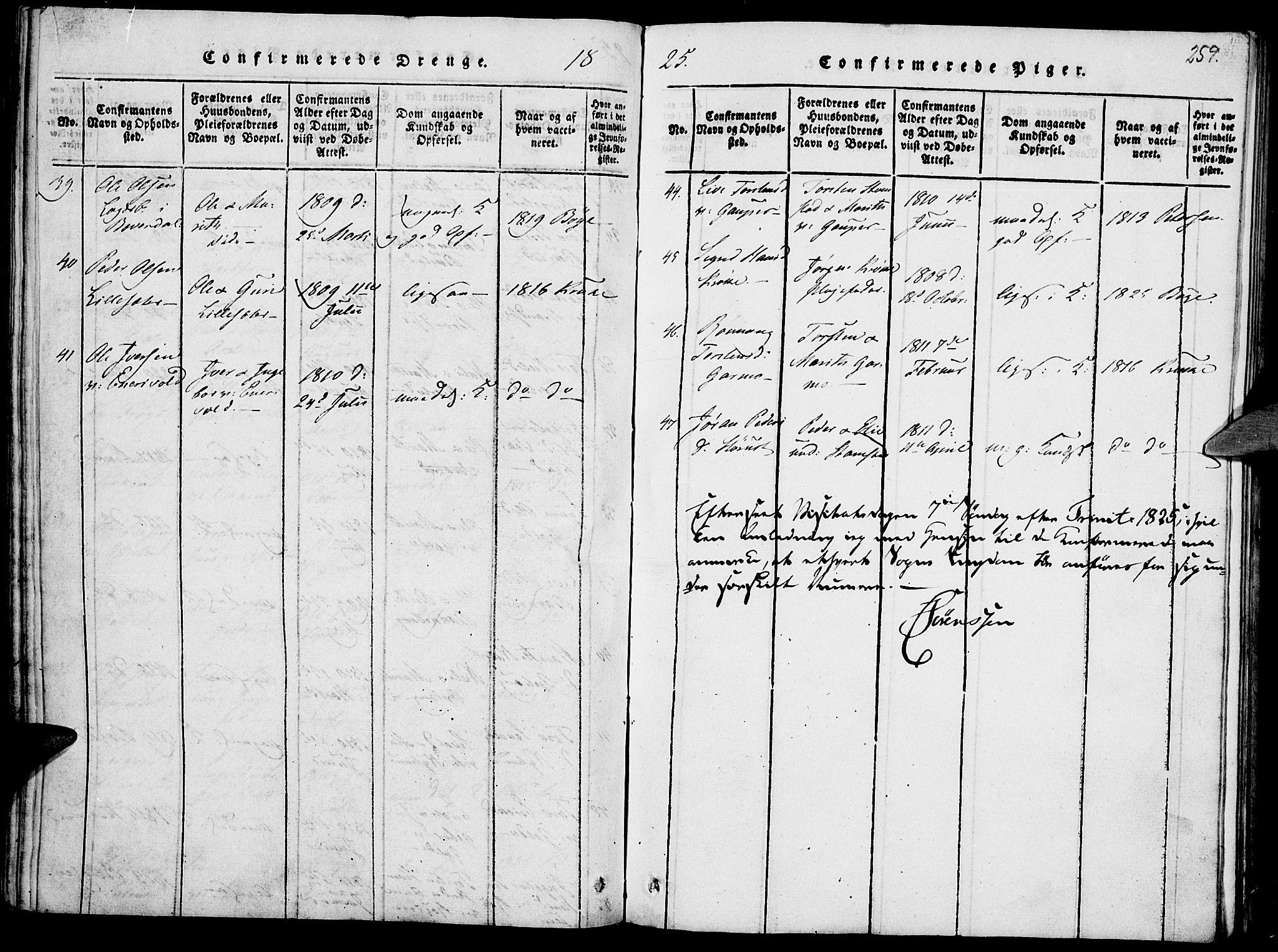 SAH, Lom prestekontor, K/L0004: Ministerialbok nr. 4, 1815-1825, s. 259