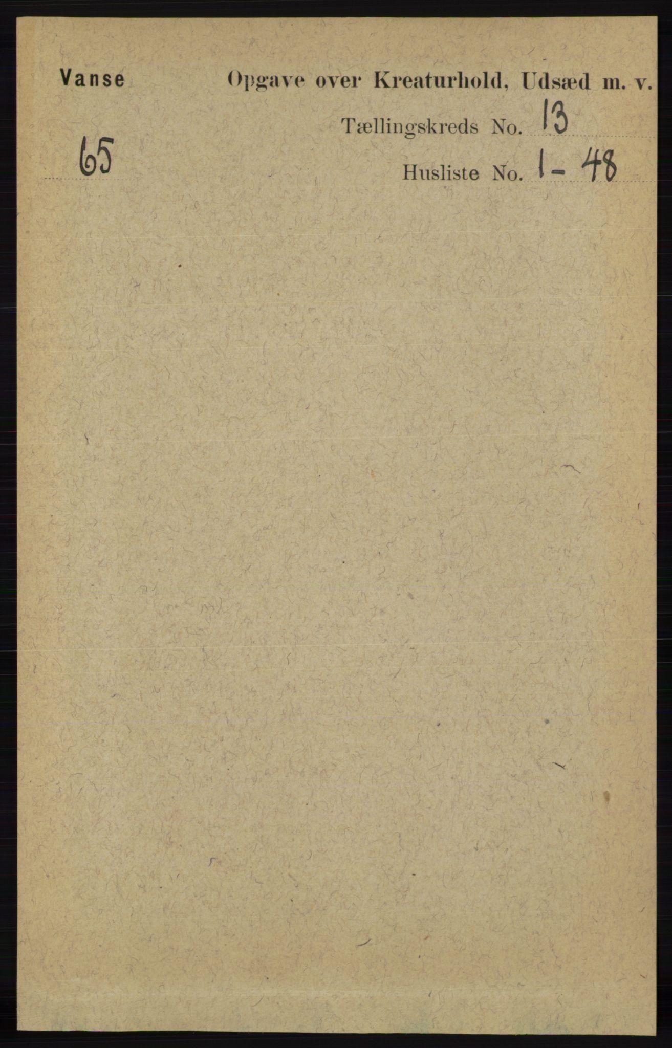 RA, Folketelling 1891 for 1041 Vanse herred, 1891, s. 10369