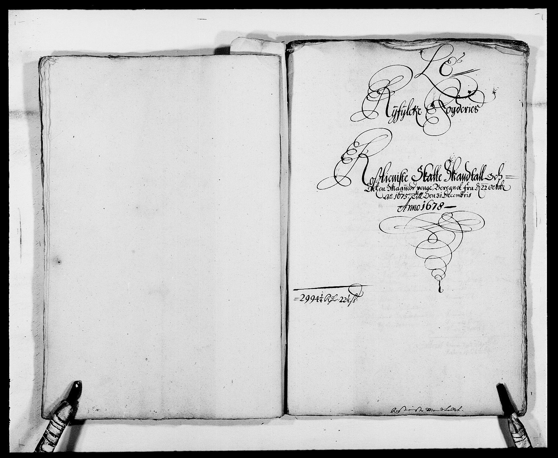RA, Rentekammeret inntil 1814, Reviderte regnskaper, Fogderegnskap, R47/L2848: Fogderegnskap Ryfylke, 1678, s. 195