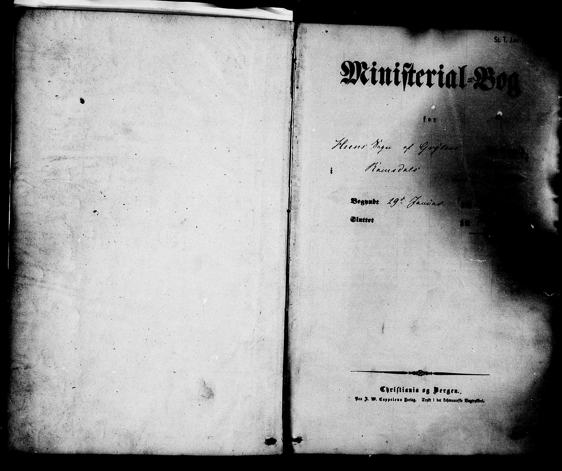 SAT, Ministerialprotokoller, klokkerbøker og fødselsregistre - Møre og Romsdal, 545/L0586: Ministerialbok nr. 545A02, 1854-1877, s. 1