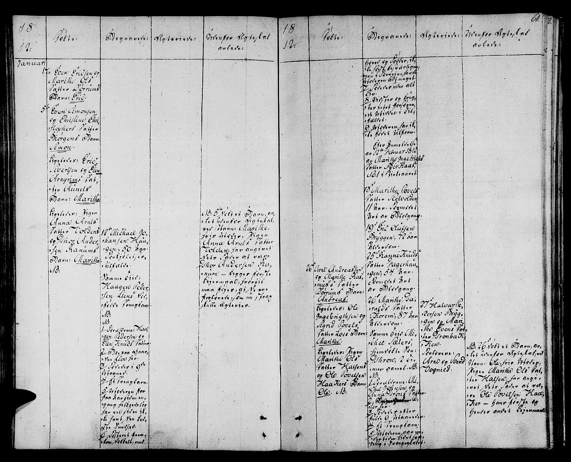 SAT, Ministerialprotokoller, klokkerbøker og fødselsregistre - Sør-Trøndelag, 678/L0894: Ministerialbok nr. 678A04, 1806-1815, s. 64
