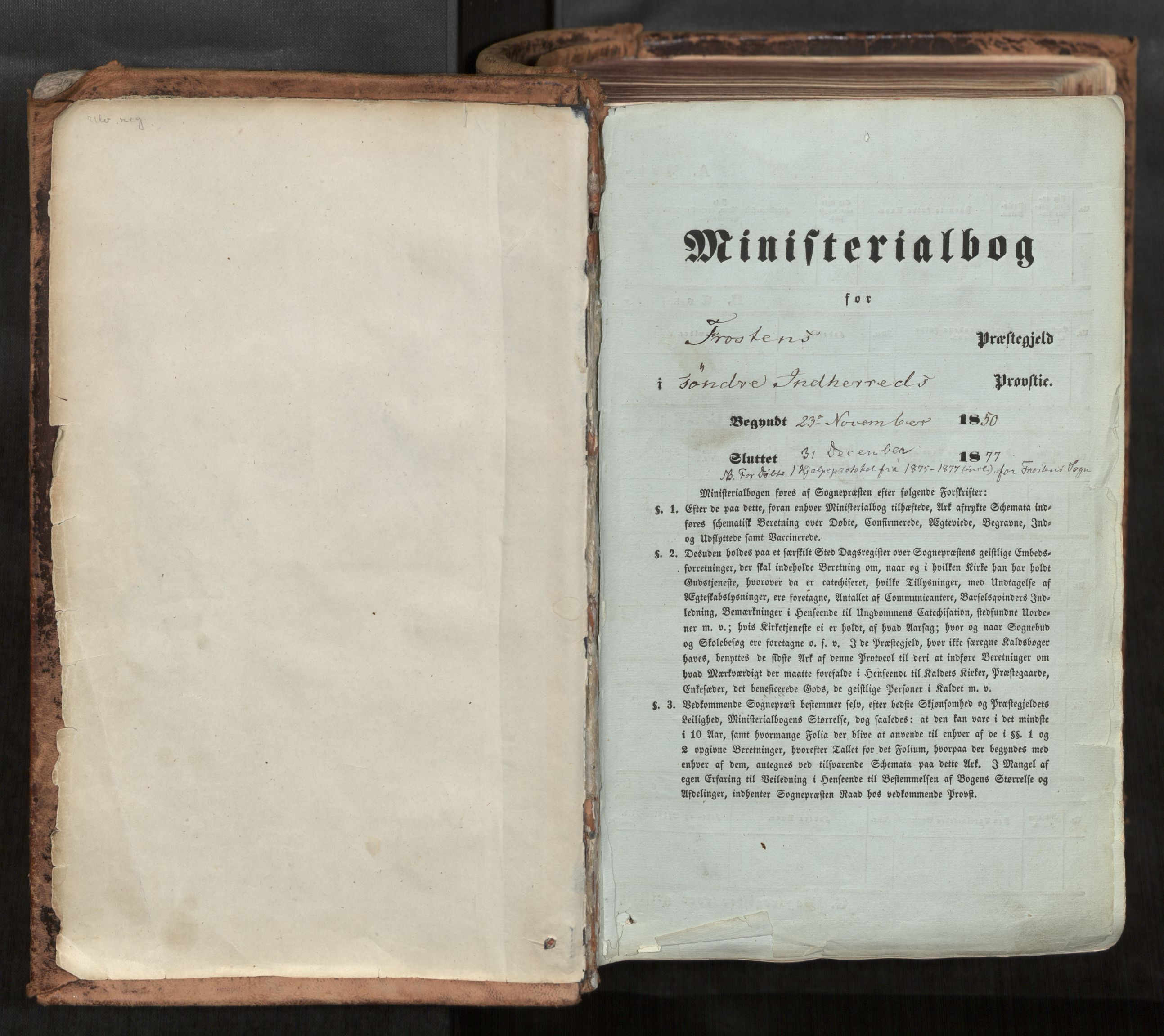 SAT, Ministerialprotokoller, klokkerbøker og fødselsregistre - Nord-Trøndelag, 713/L0116: Ministerialbok nr. 713A07, 1850-1877, s. upaginert