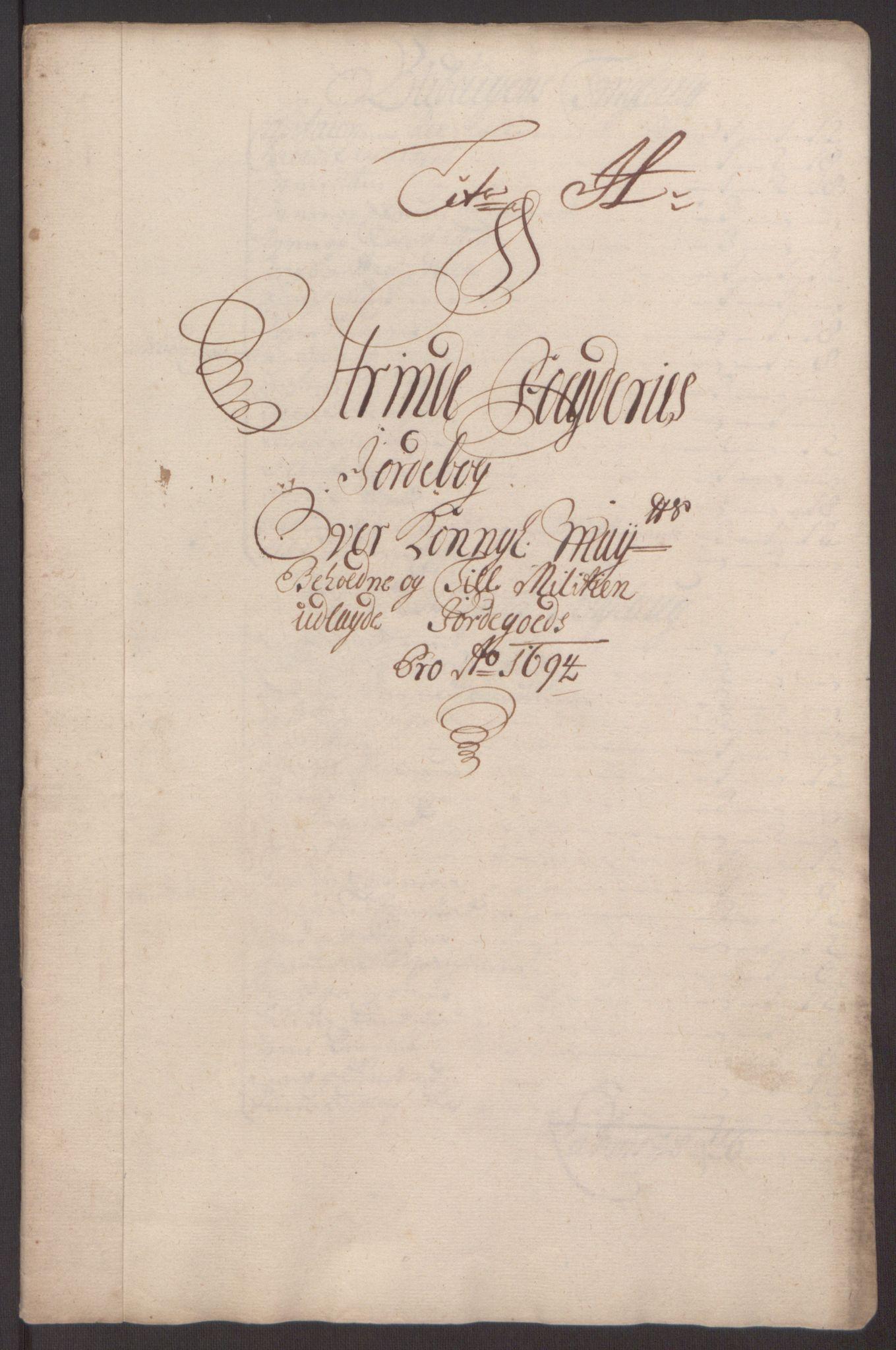 RA, Rentekammeret inntil 1814, Reviderte regnskaper, Fogderegnskap, R61/L4104: Fogderegnskap Strinda og Selbu, 1693-1694, s. 250