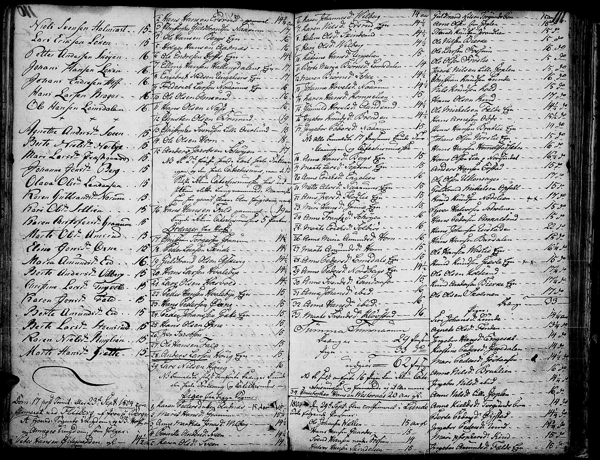 SAH, Land prestekontor, Ministerialbok nr. 6, 1784-1813, s. 111