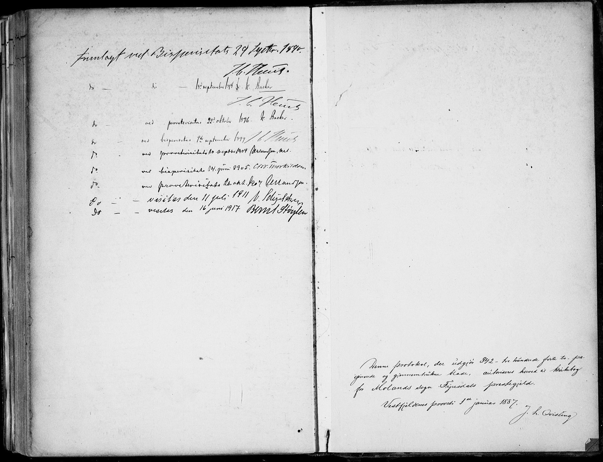 SAKO, Fyresdal kirkebøker, F/Fa/L0007: Ministerialbok nr. I 7, 1887-1914