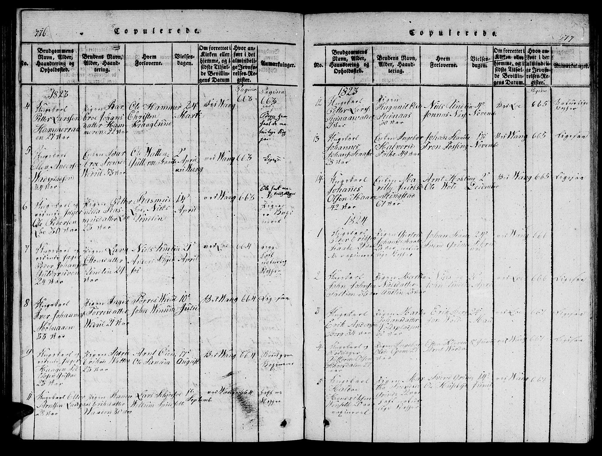 SAT, Ministerialprotokoller, klokkerbøker og fødselsregistre - Nord-Trøndelag, 714/L0132: Klokkerbok nr. 714C01, 1817-1824, s. 376-377