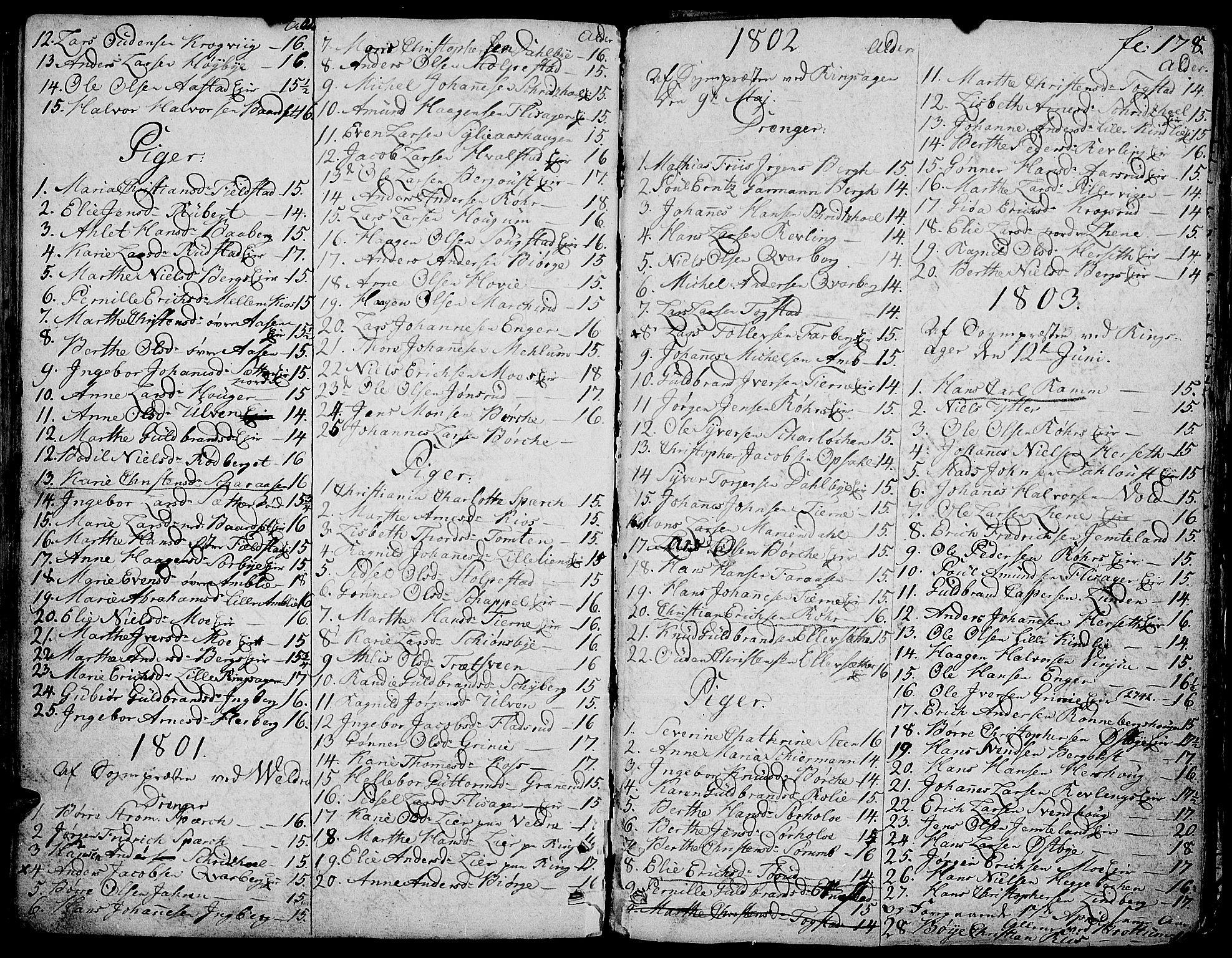SAH, Ringsaker prestekontor, K/Ka/L0004: Ministerialbok nr. 4, 1799-1814, s. 178