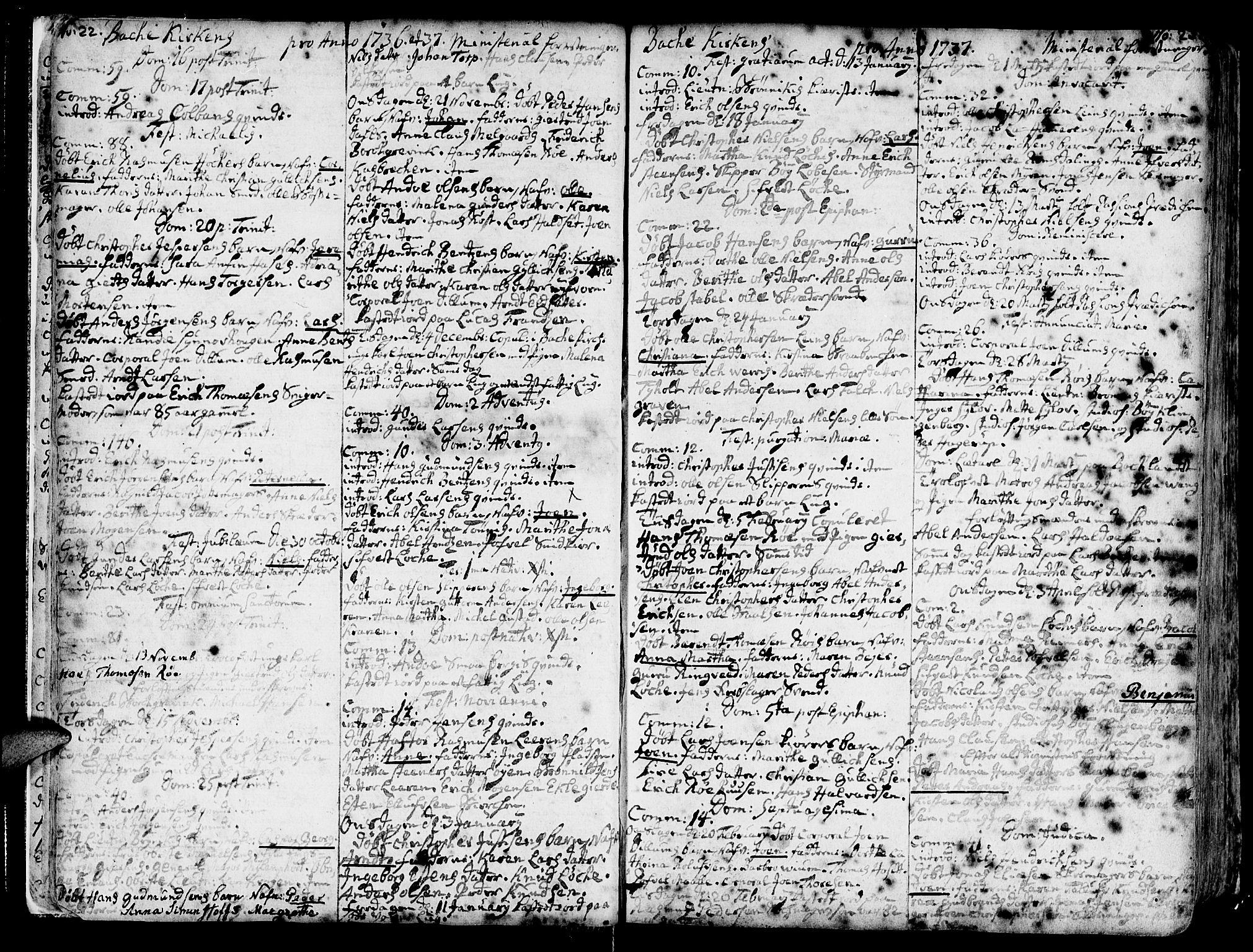 SAT, Ministerialprotokoller, klokkerbøker og fødselsregistre - Sør-Trøndelag, 606/L0276: Ministerialbok nr. 606A01 /2, 1727-1779, s. 22-23