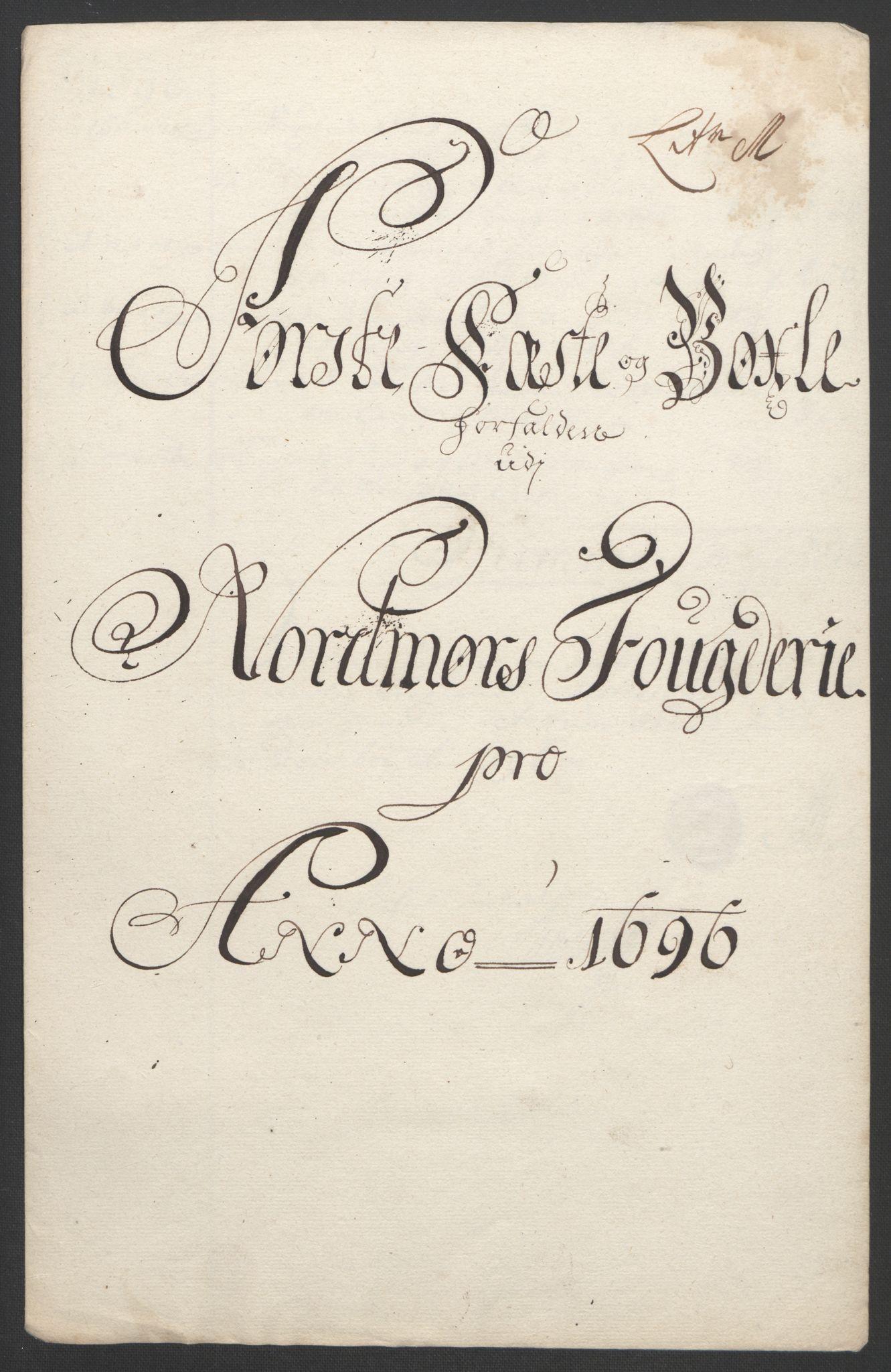 RA, Rentekammeret inntil 1814, Reviderte regnskaper, Fogderegnskap, R56/L3736: Fogderegnskap Nordmøre, 1694-1696, s. 437