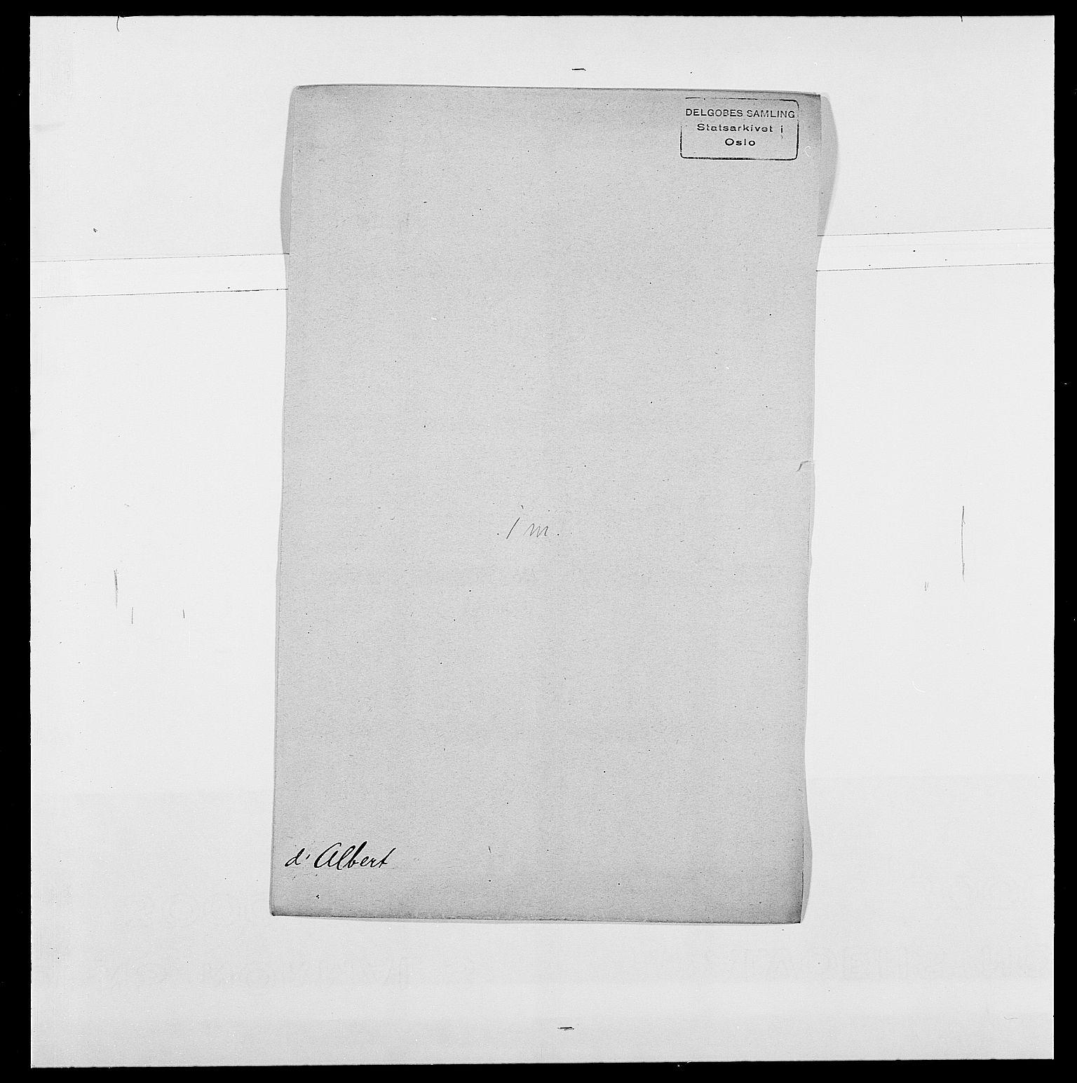 SAO, Delgobe, Charles Antoine - samling, D/Da/L0001: Aabye - Angerman, s. 365