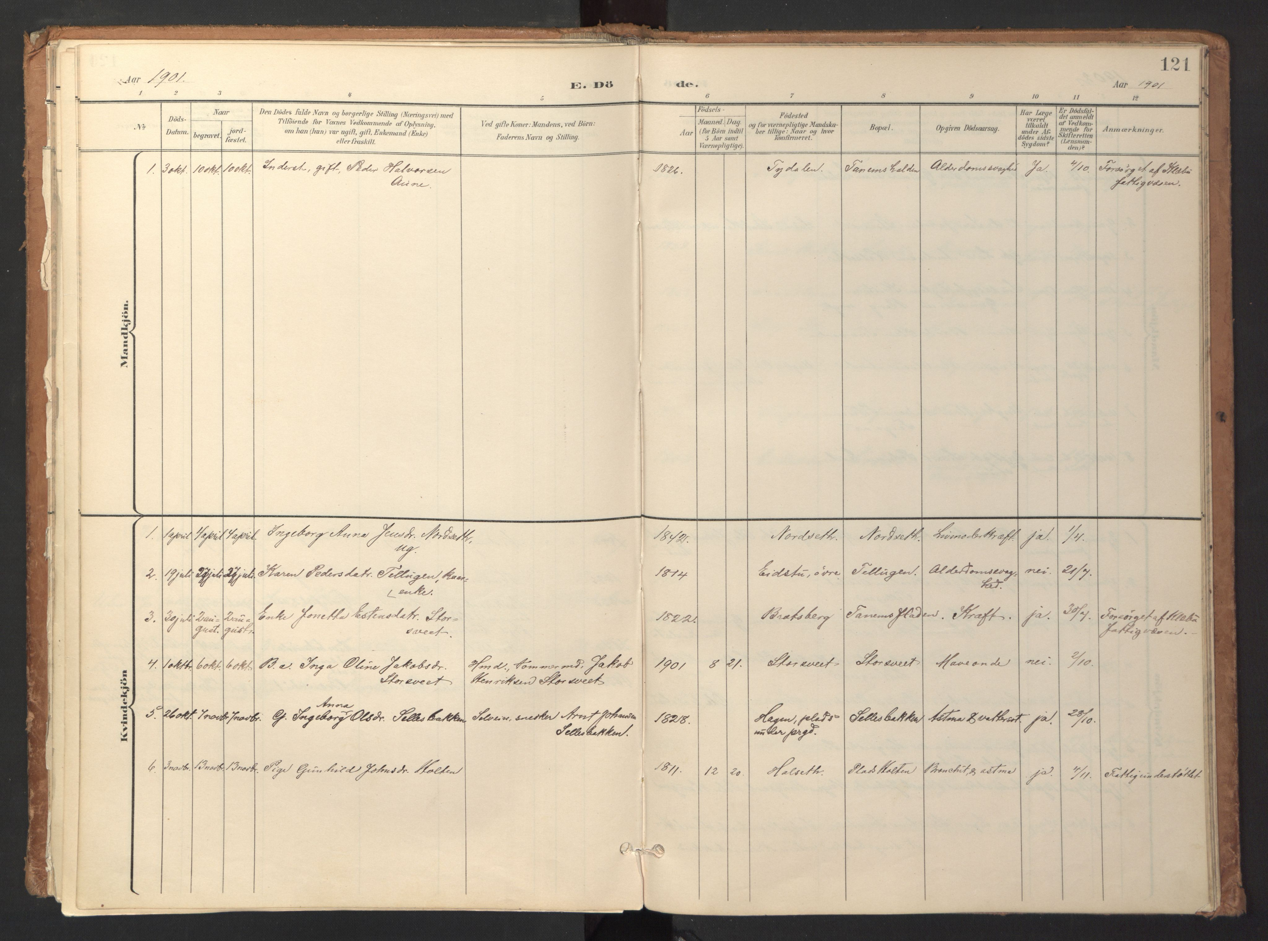 SAT, Ministerialprotokoller, klokkerbøker og fødselsregistre - Sør-Trøndelag, 618/L0448: Ministerialbok nr. 618A11, 1898-1916, s. 121