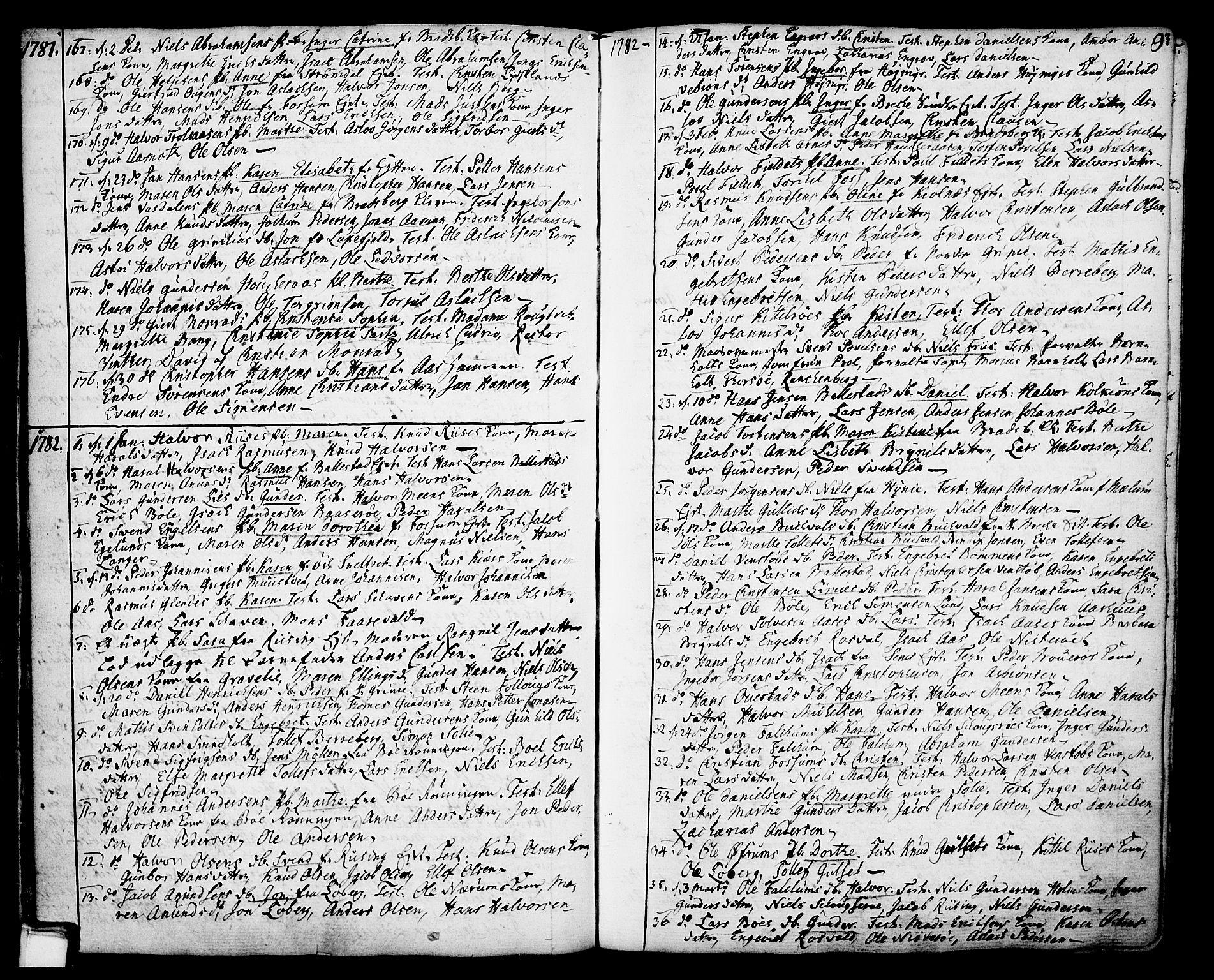 SAKO, Gjerpen kirkebøker, F/Fa/L0002: Ministerialbok nr. 2, 1747-1795, s. 93