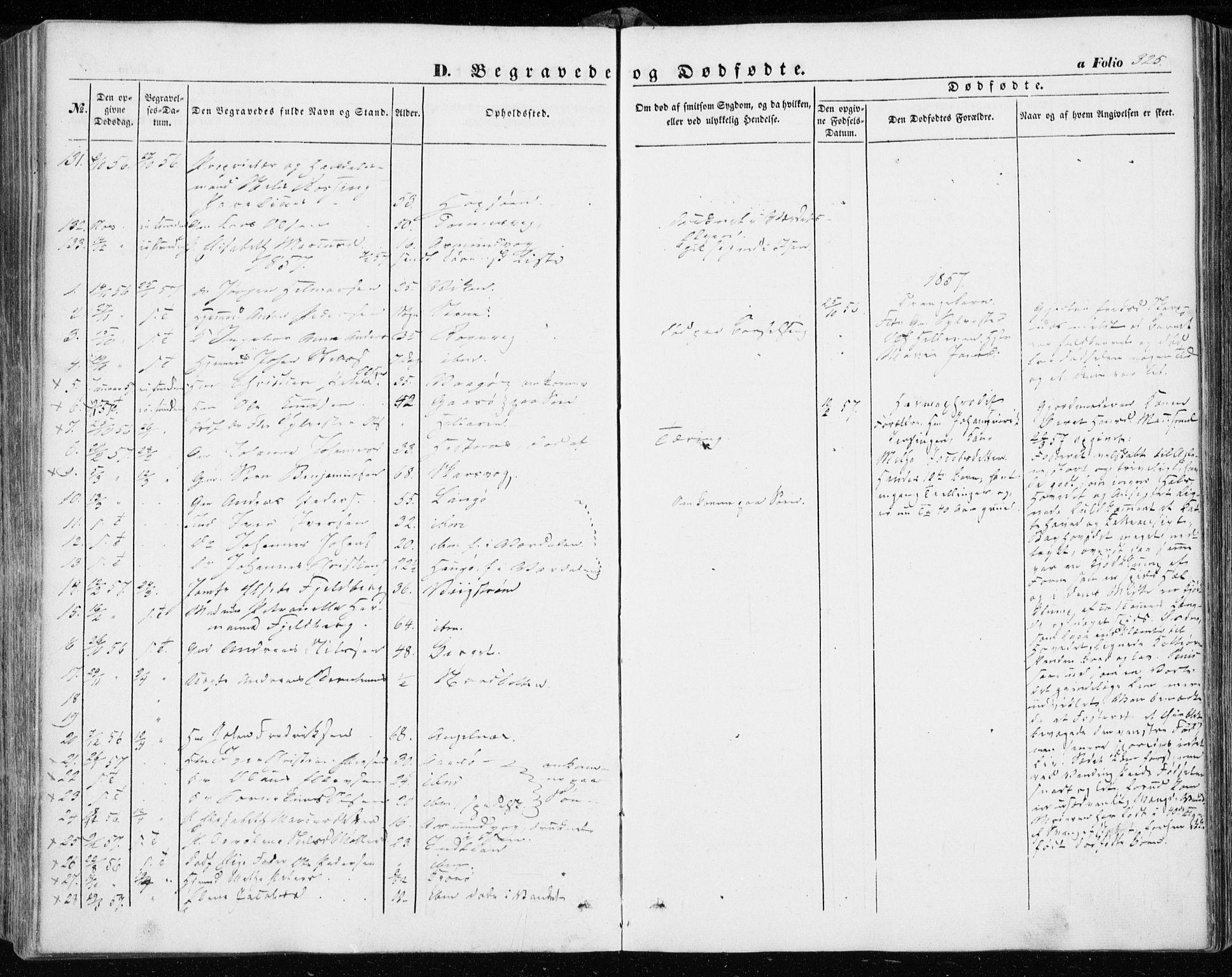 SAT, Ministerialprotokoller, klokkerbøker og fødselsregistre - Sør-Trøndelag, 634/L0530: Ministerialbok nr. 634A06, 1852-1860, s. 325
