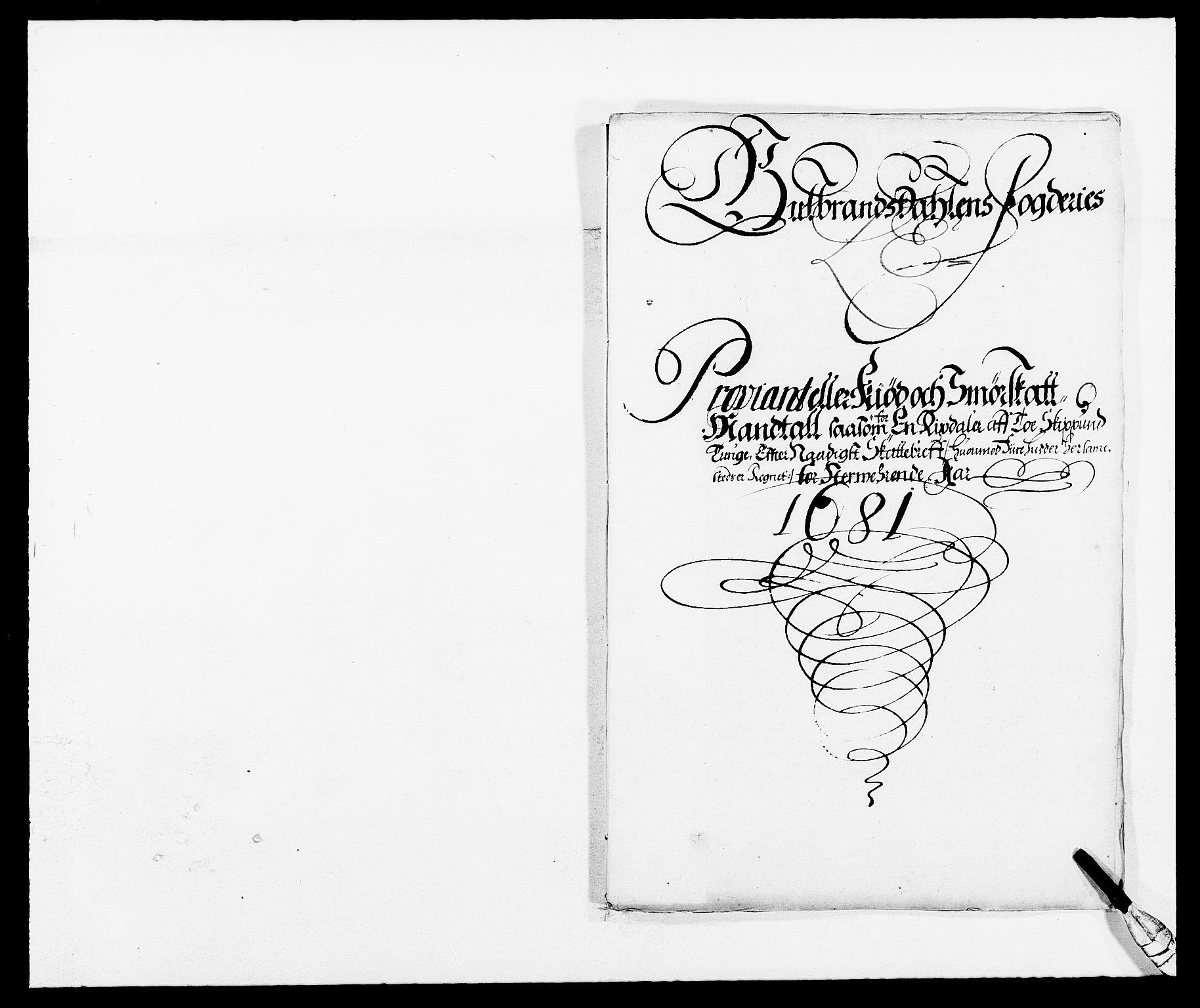 RA, Rentekammeret inntil 1814, Reviderte regnskaper, Fogderegnskap, R17/L1156: Fogderegnskap Gudbrandsdal, 1681, s. 41