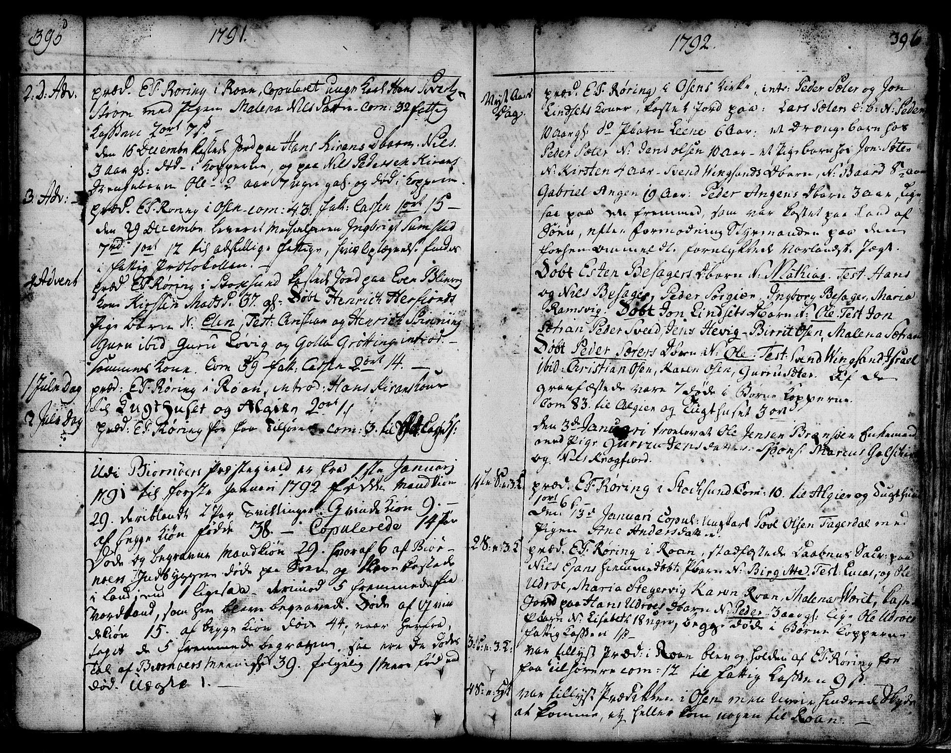 SAT, Ministerialprotokoller, klokkerbøker og fødselsregistre - Sør-Trøndelag, 657/L0700: Ministerialbok nr. 657A01, 1732-1801, s. 395-396