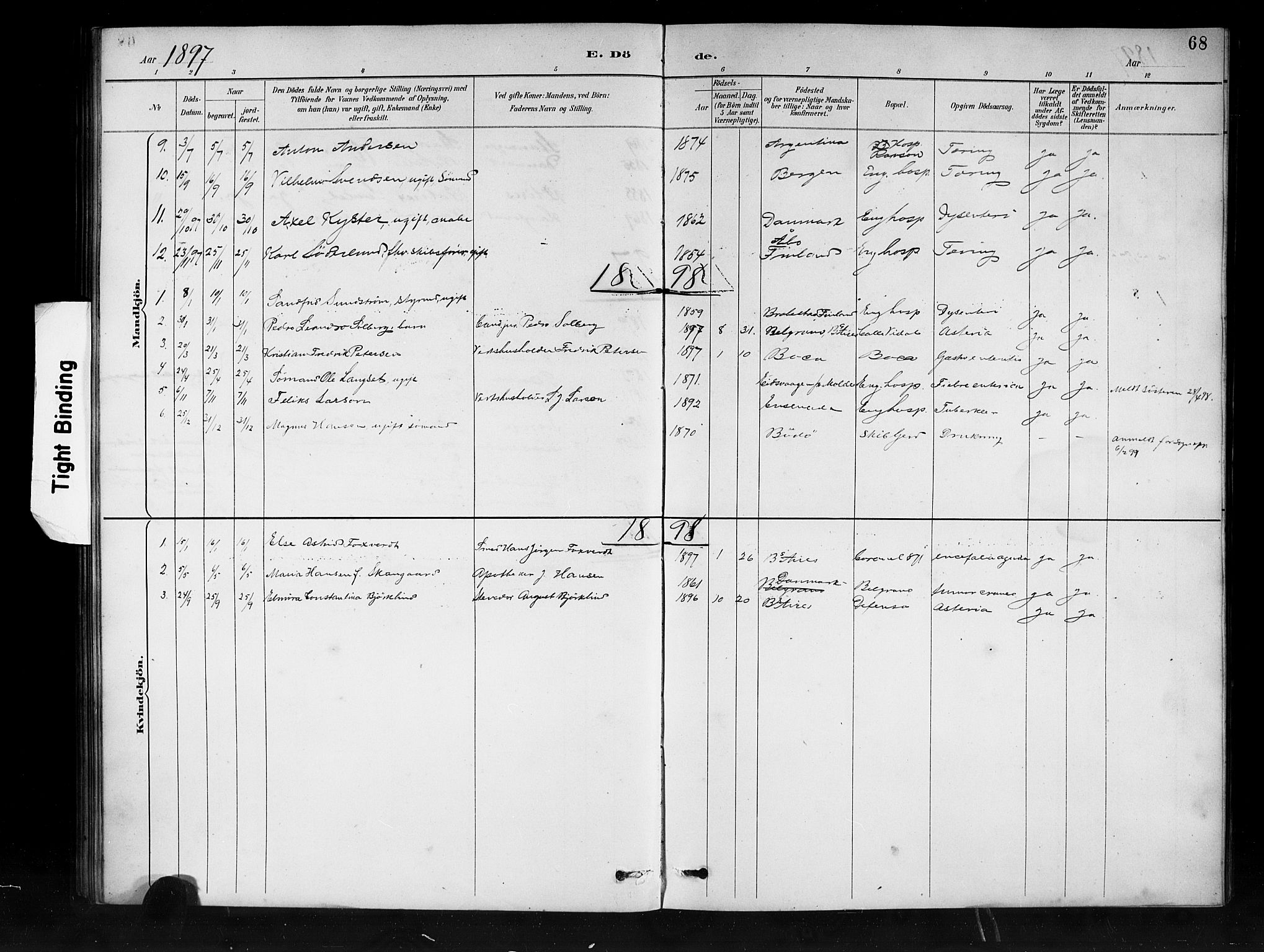 SAB, Den Norske Sjømannsmisjon i utlandet*, Ministerialbok nr. A 1, 1888-1898, s. 68