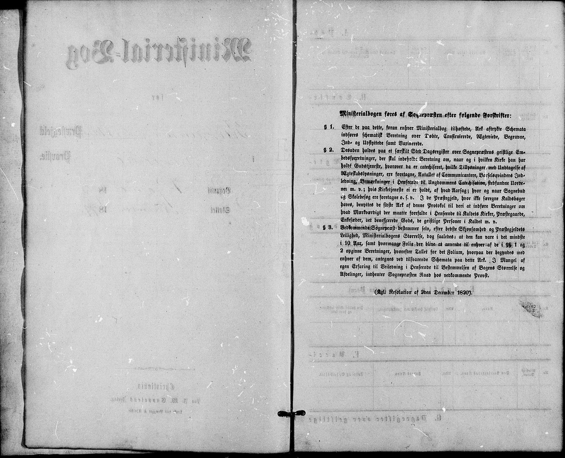 SAO, Gamle Aker prestekontor Kirkebøker, G/L0004: Klokkerbok nr. 4, 1875-1879
