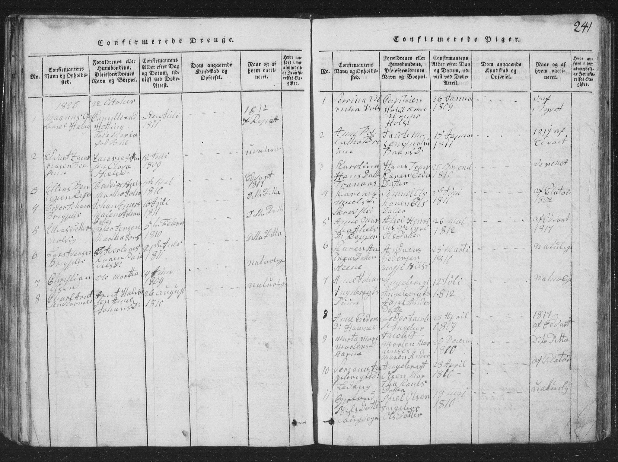 SAT, Ministerialprotokoller, klokkerbøker og fødselsregistre - Nord-Trøndelag, 773/L0613: Ministerialbok nr. 773A04, 1815-1845, s. 241
