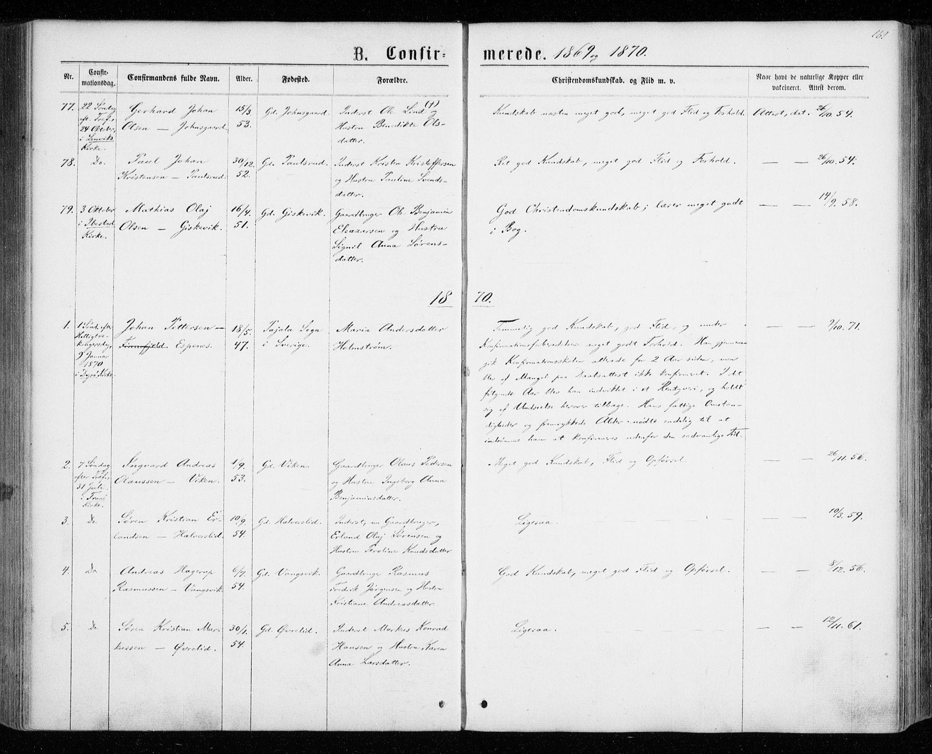 SATØ, Tranøy sokneprestkontor, I/Ia/Iaa/L0008kirke: Ministerialbok nr. 8, 1867-1877, s. 161