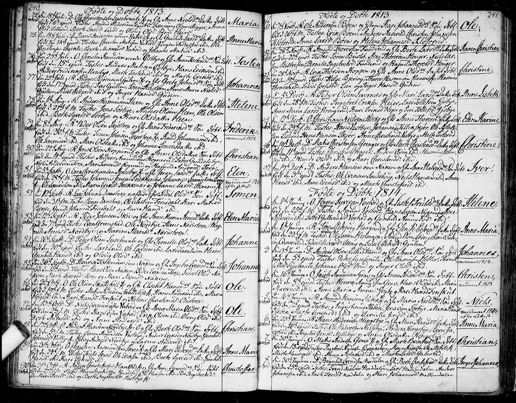SAO, Rakkestad prestekontor Kirkebøker, F/Fa/L0005: Ministerialbok nr. I 5, 1784-1814, s. 240-241