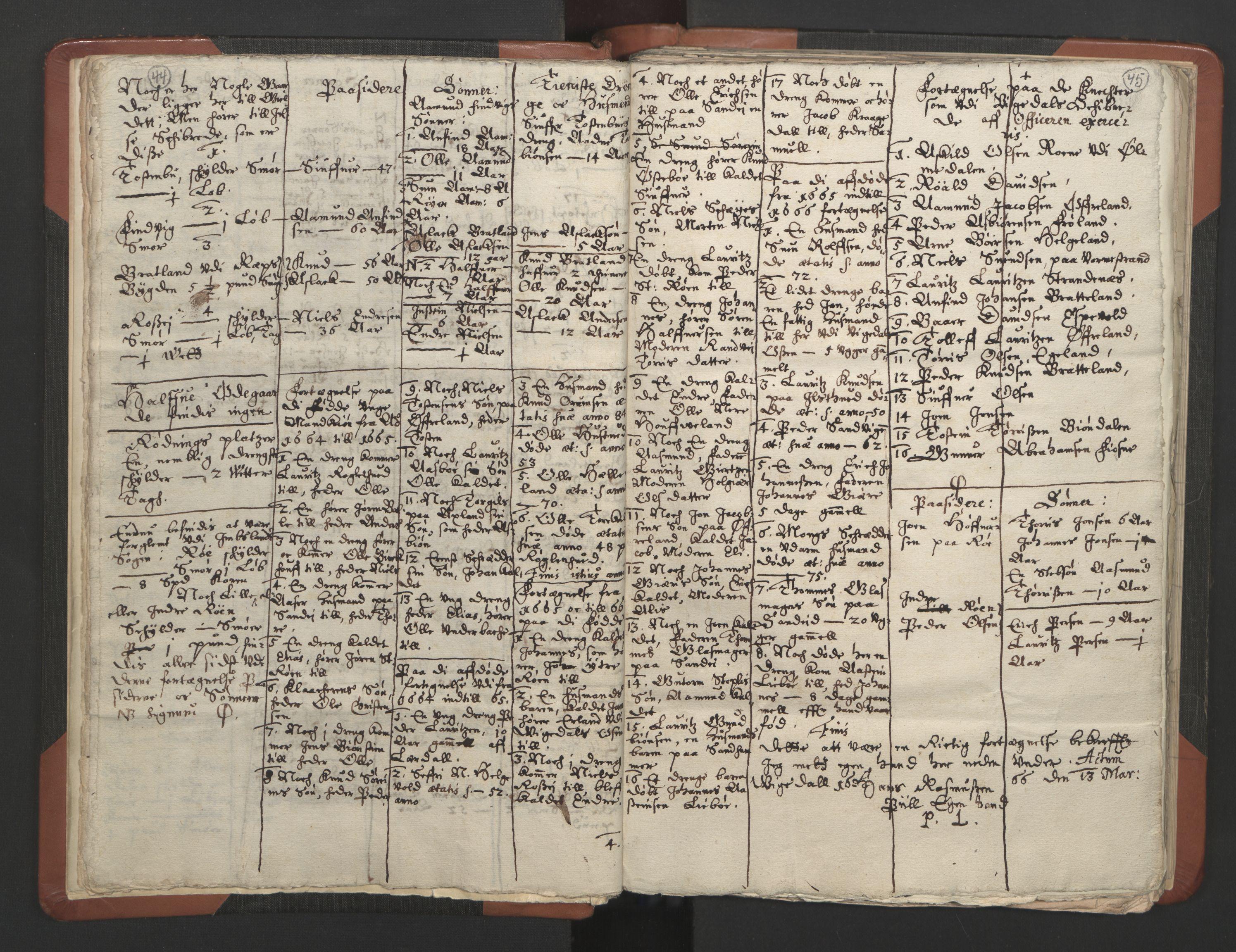 RA, Sogneprestenes manntall 1664-1666, nr. 19: Ryfylke prosti, 1664-1666, s. 44-45