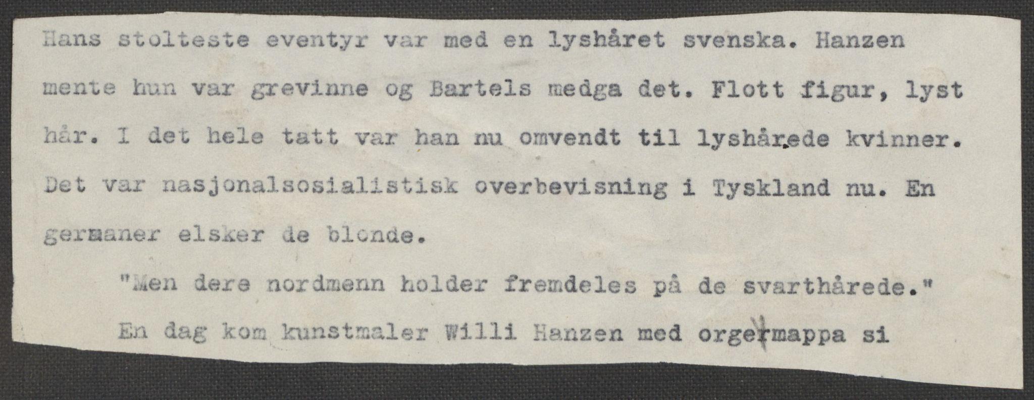RA, Grøgaard, Joachim, F/L0002: Tegninger og tekster, 1942-1945, s. 92
