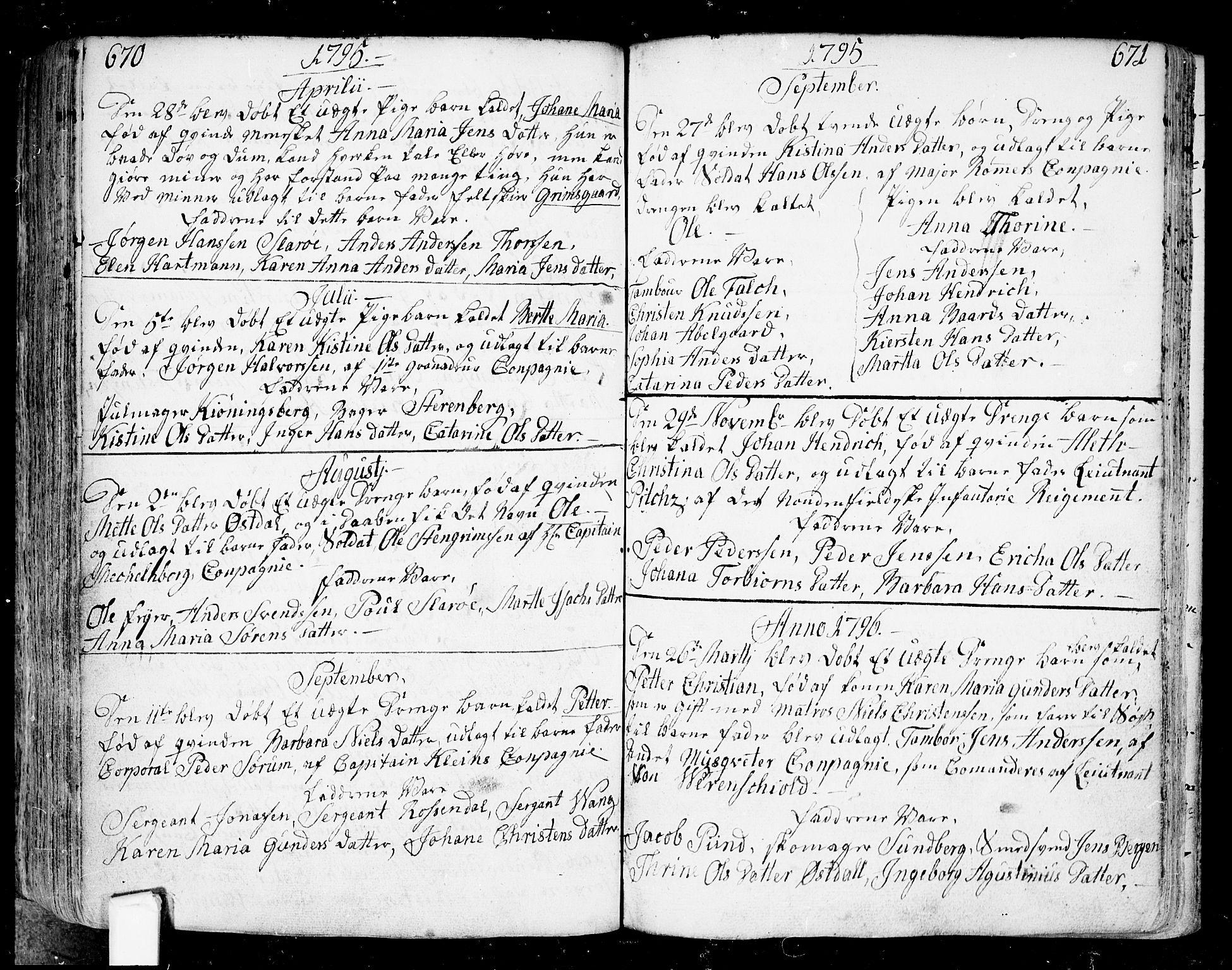 SAO, Fredrikstad prestekontor Kirkebøker, F/Fa/L0002: Ministerialbok nr. 2, 1750-1804, s. 670-671