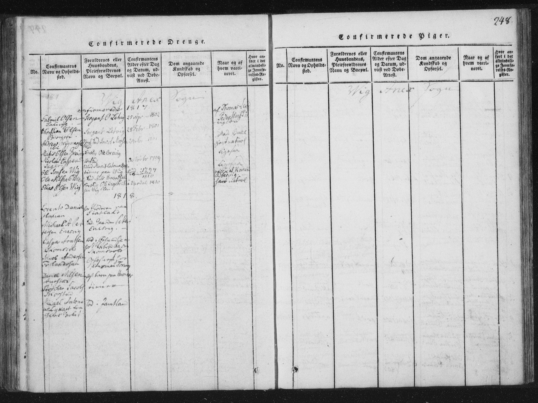 SAT, Ministerialprotokoller, klokkerbøker og fødselsregistre - Nord-Trøndelag, 773/L0609: Ministerialbok nr. 773A03 /2, 1815-1830, s. 248