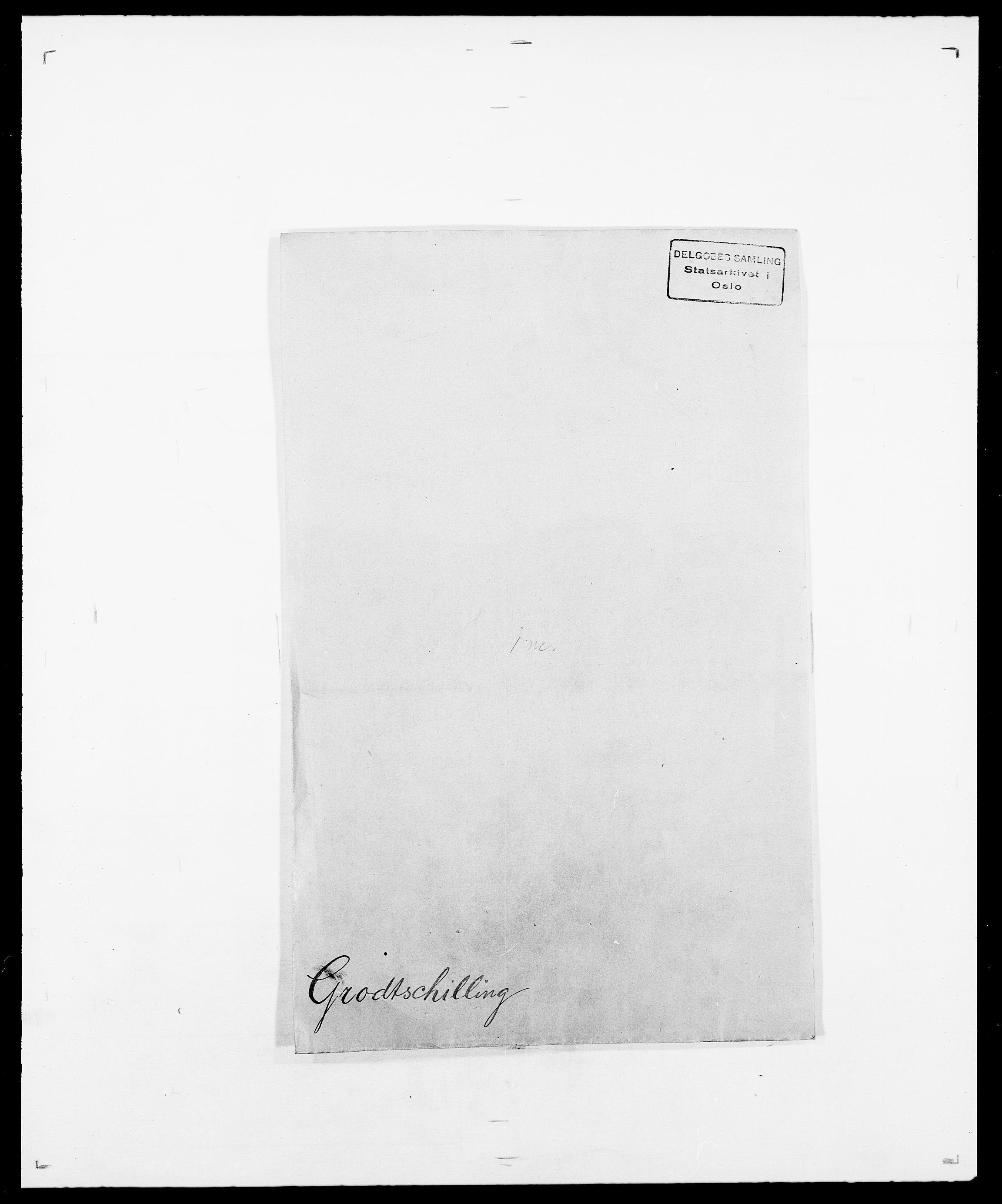 SAO, Delgobe, Charles Antoine - samling, D/Da/L0015: Grodtshilling - Halvorsæth, s. 1
