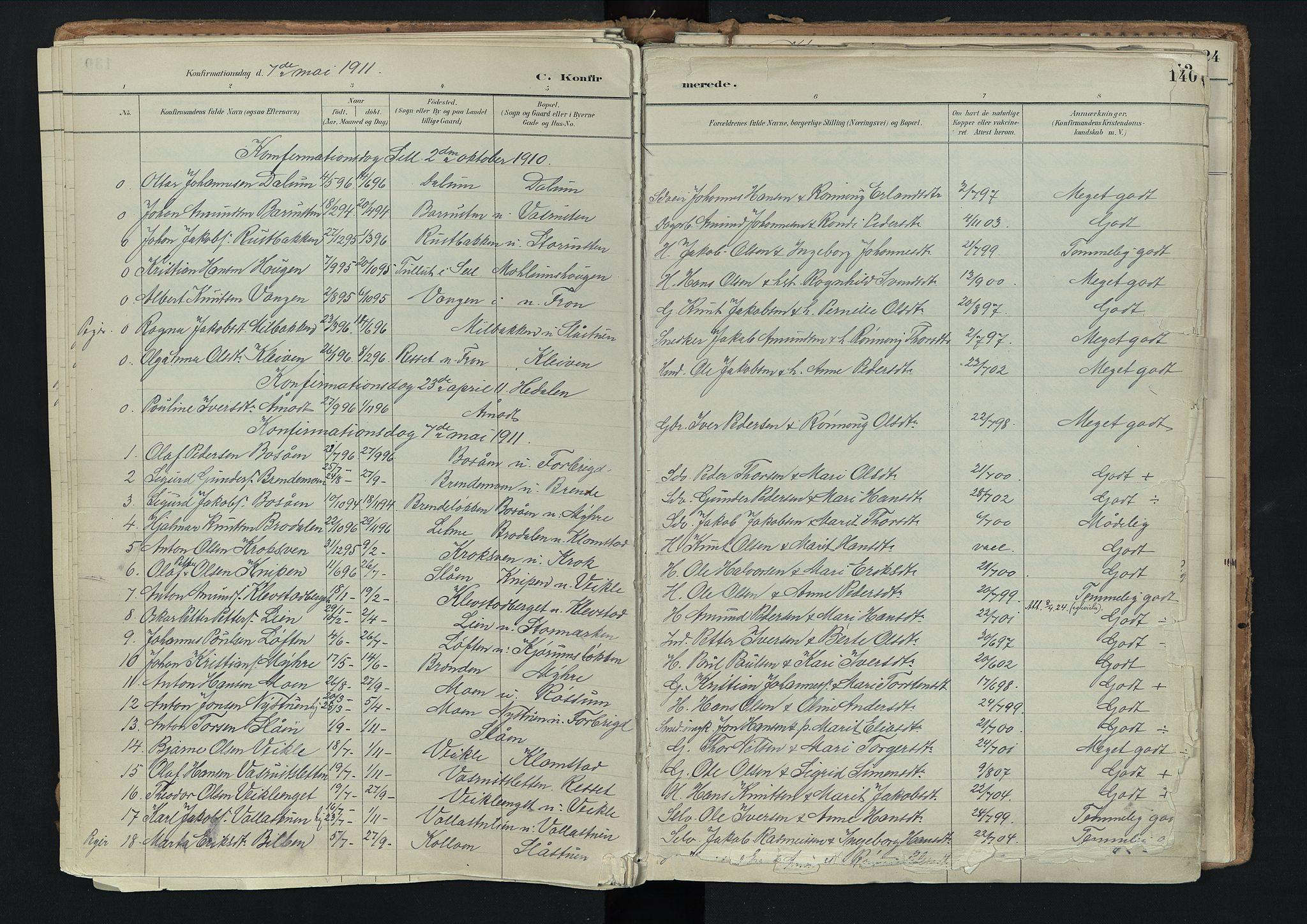 SAH, Nord-Fron prestekontor, Ministerialbok nr. 3, 1884-1914, s. 140
