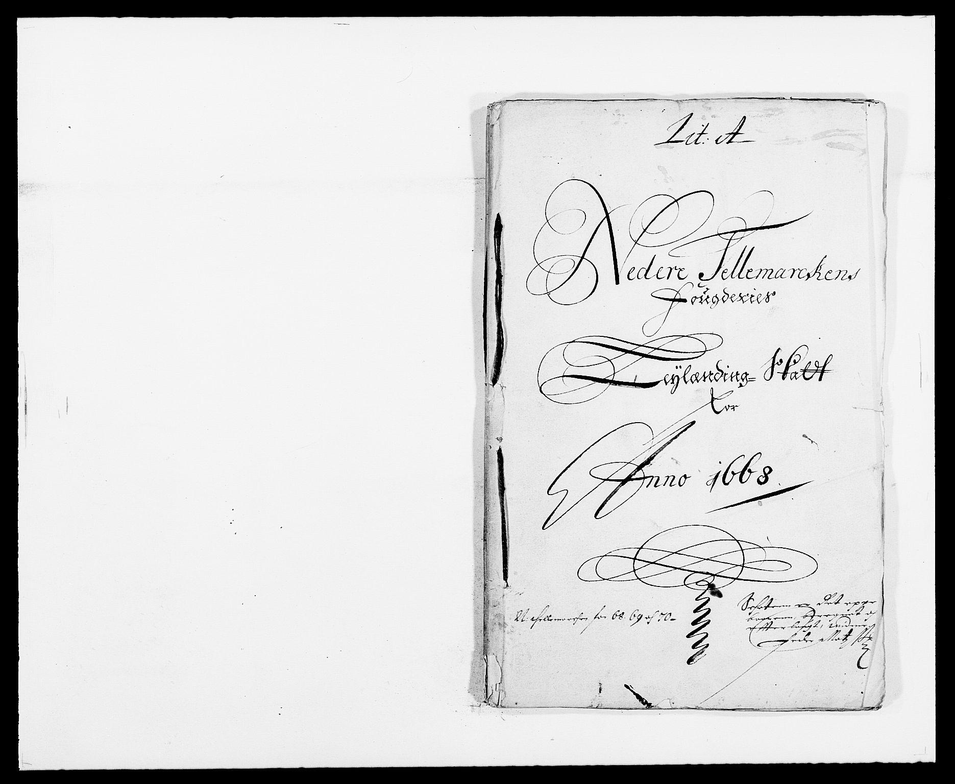 RA, Rentekammeret inntil 1814, Reviderte regnskaper, Fogderegnskap, R35/L2058: Fogderegnskap Øvre og Nedre Telemark, 1668-1670, s. 1