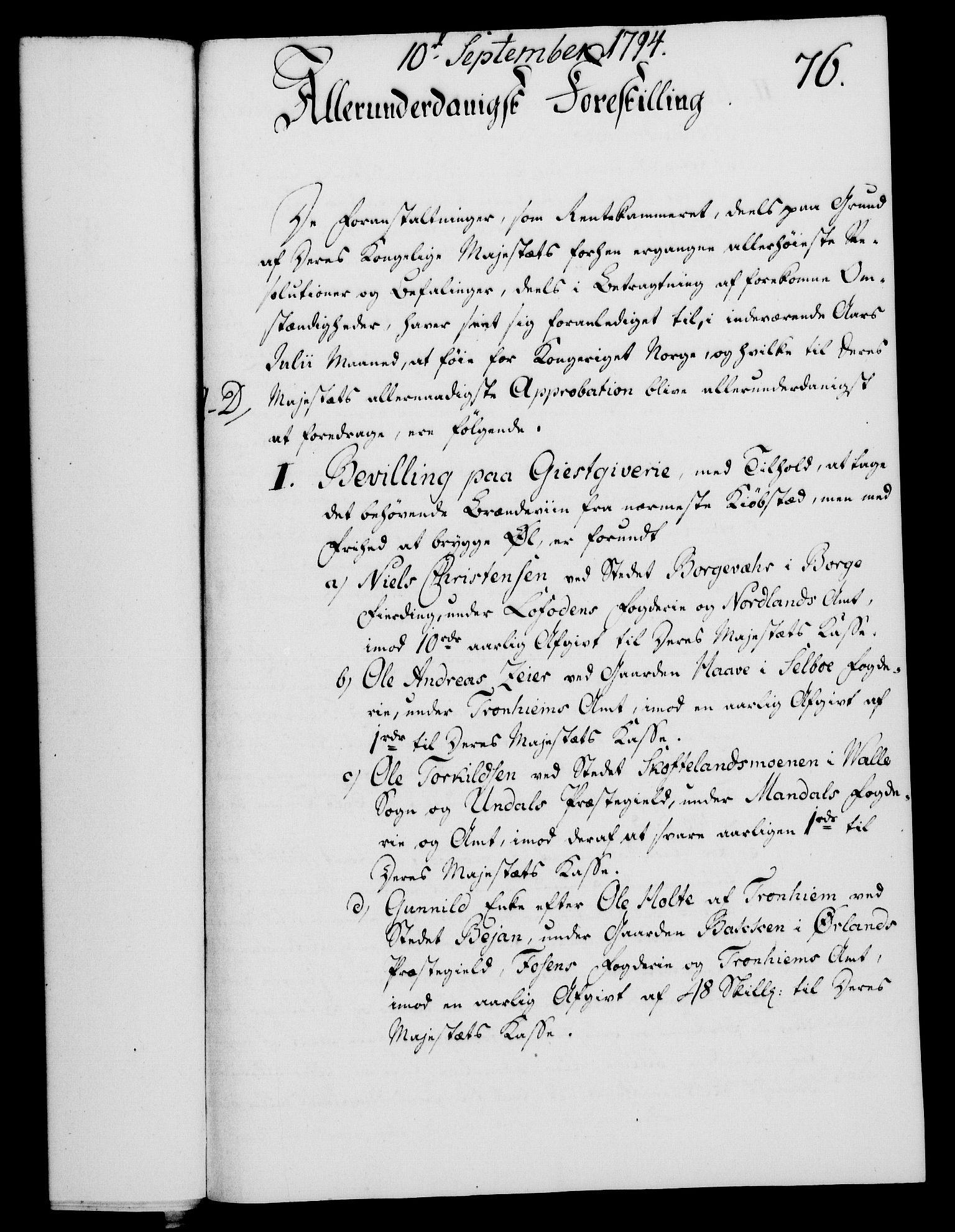 RA, Rentekammeret, Kammerkanselliet, G/Gf/Gfa/L0076: Norsk relasjons- og resolusjonsprotokoll (merket RK 52.76), 1794, s. 355