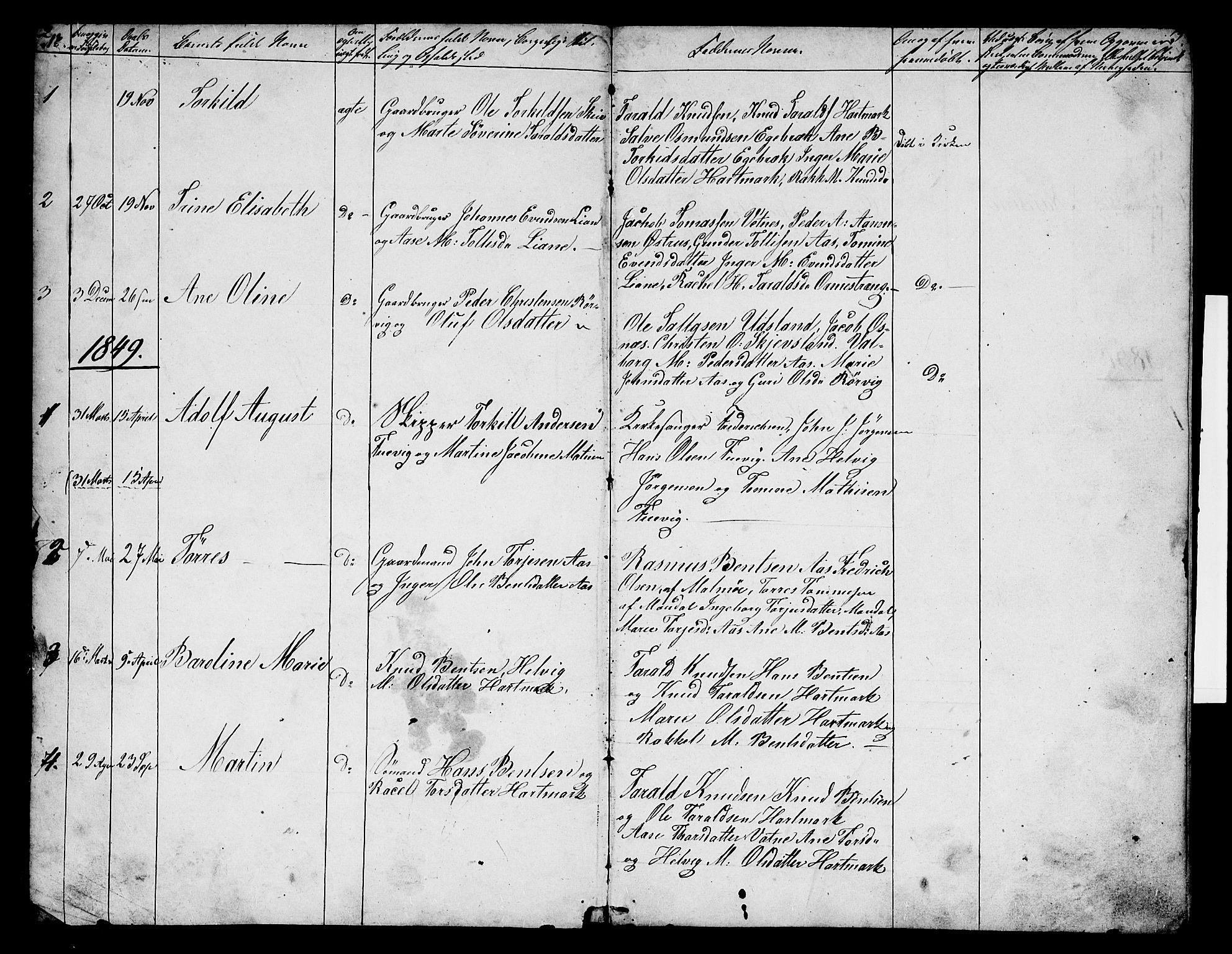 SAK, Mandal sokneprestkontor, F/Fb/Fbb/L0003: Klokkerbok nr. B 3, 1848-1877, s. 2-3