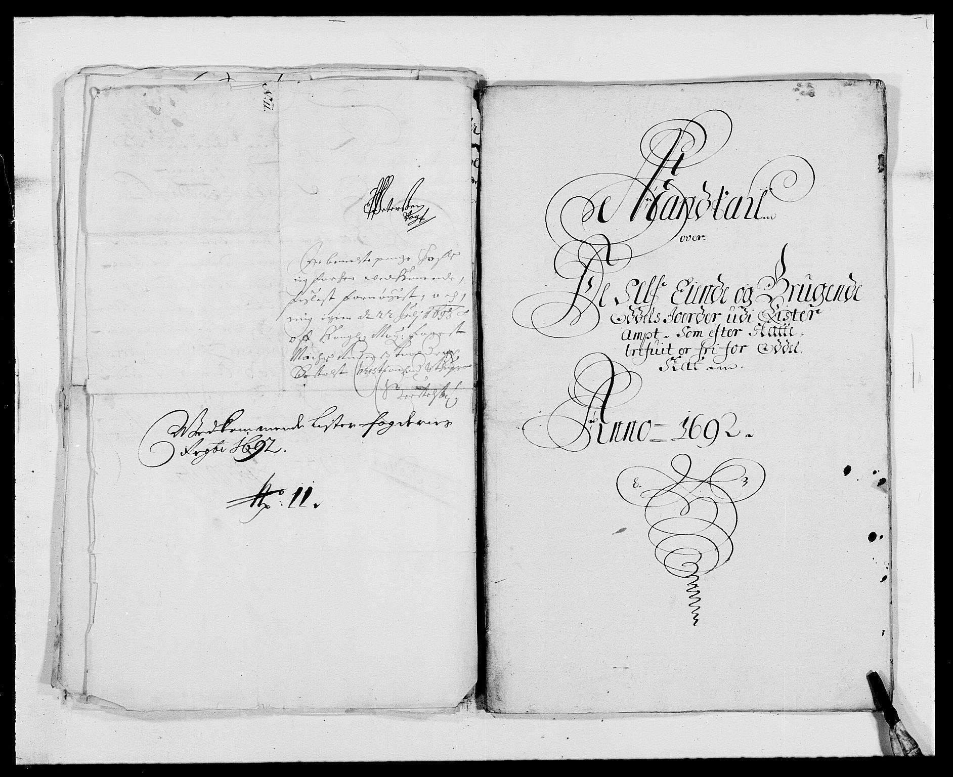 RA, Rentekammeret inntil 1814, Reviderte regnskaper, Fogderegnskap, R41/L2536: Fogderegnskap Lista, 1690-1693, s. 249