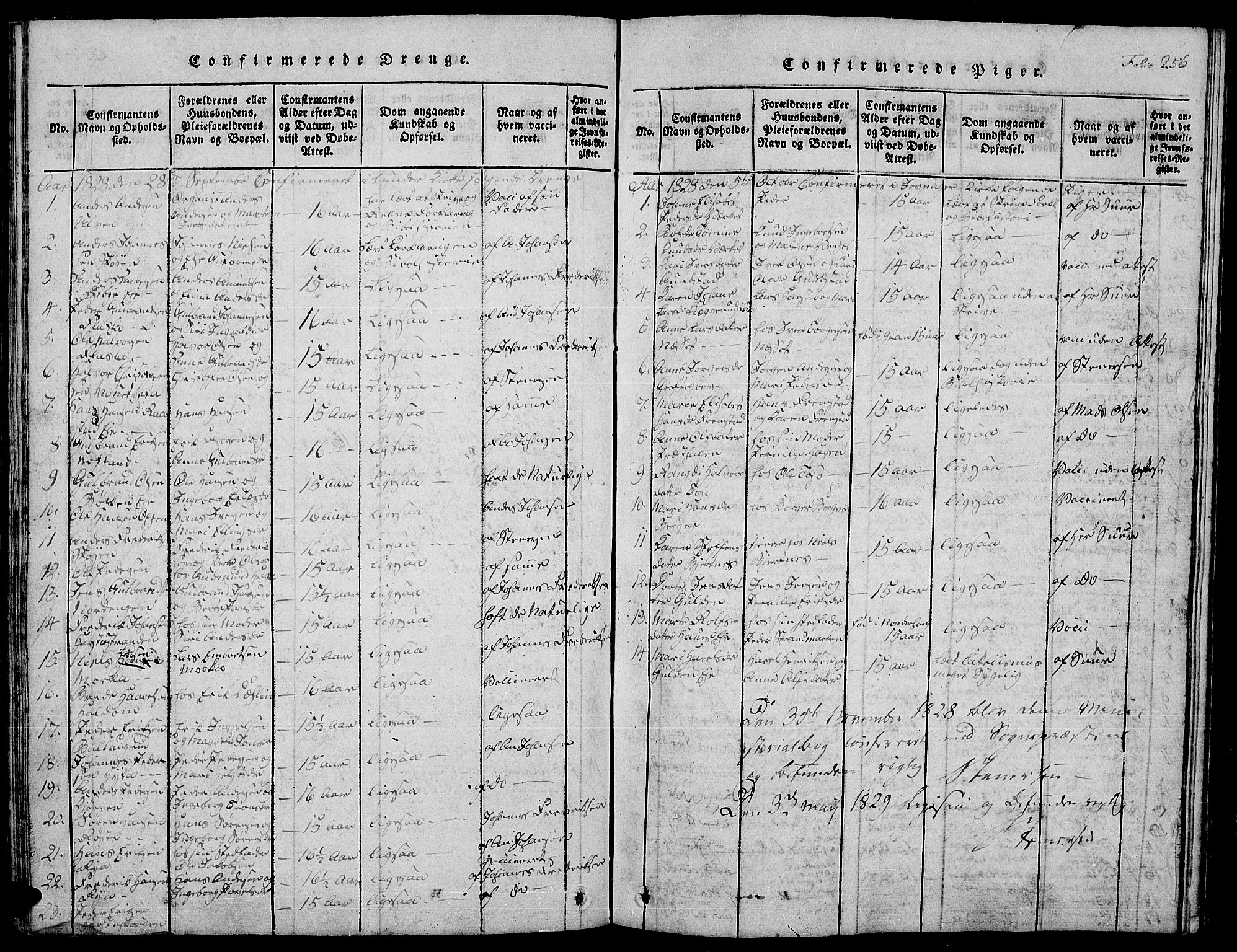 SAH, Jevnaker prestekontor, Klokkerbok nr. 1, 1815-1837, s. 256
