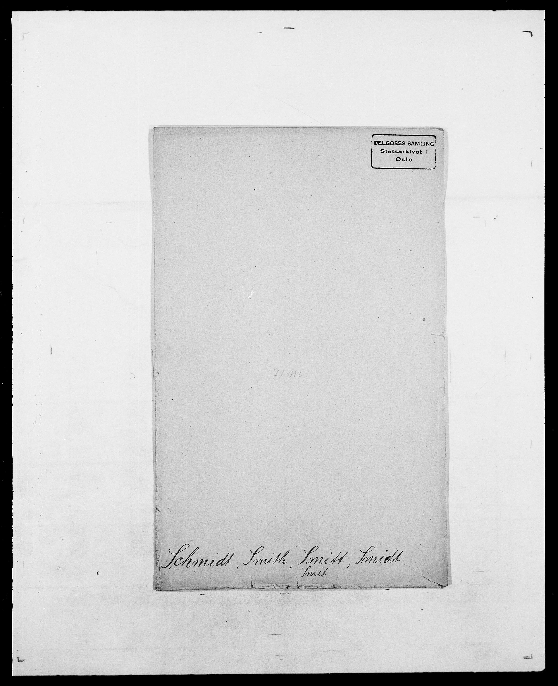 SAO, Delgobe, Charles Antoine - samling, D/Da/L0034: Saabye - Schmincke, s. 849