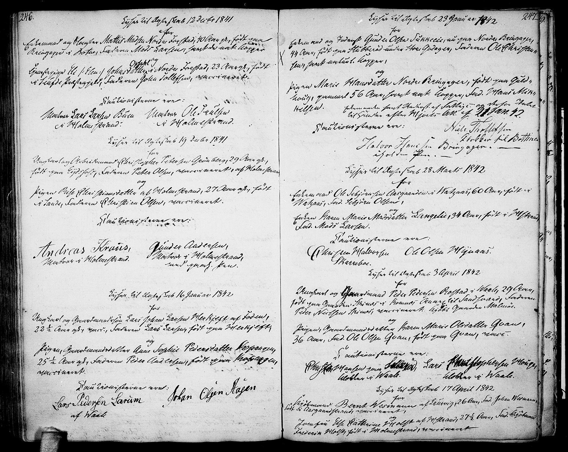 SAKO, Botne kirkebøker, F/Fa/L0003: Ministerialbok nr. I 3 /1, 1792-1844, s. 246-247