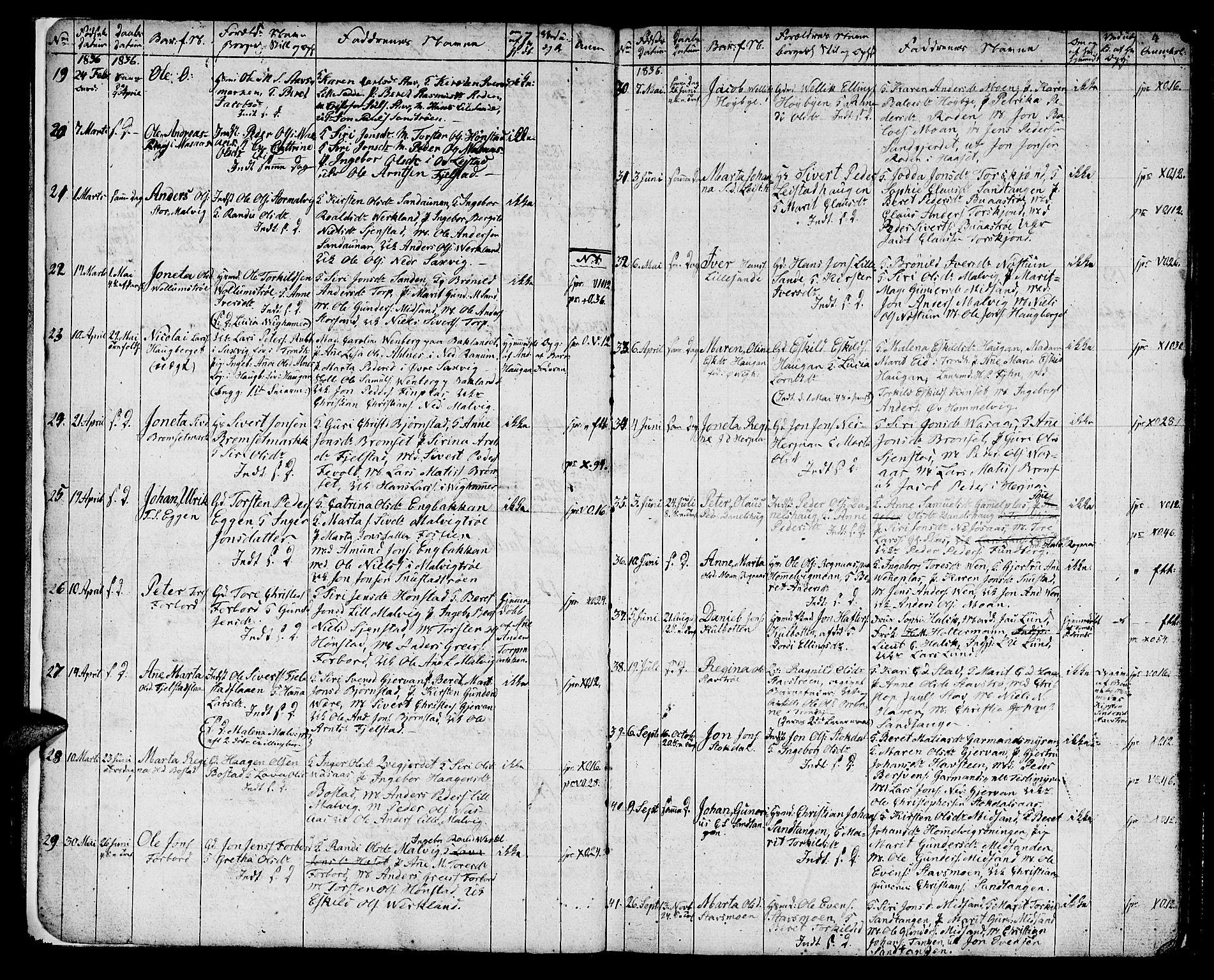 SAT, Ministerialprotokoller, klokkerbøker og fødselsregistre - Sør-Trøndelag, 616/L0421: Klokkerbok nr. 616C04, 1834-1850, s. 4