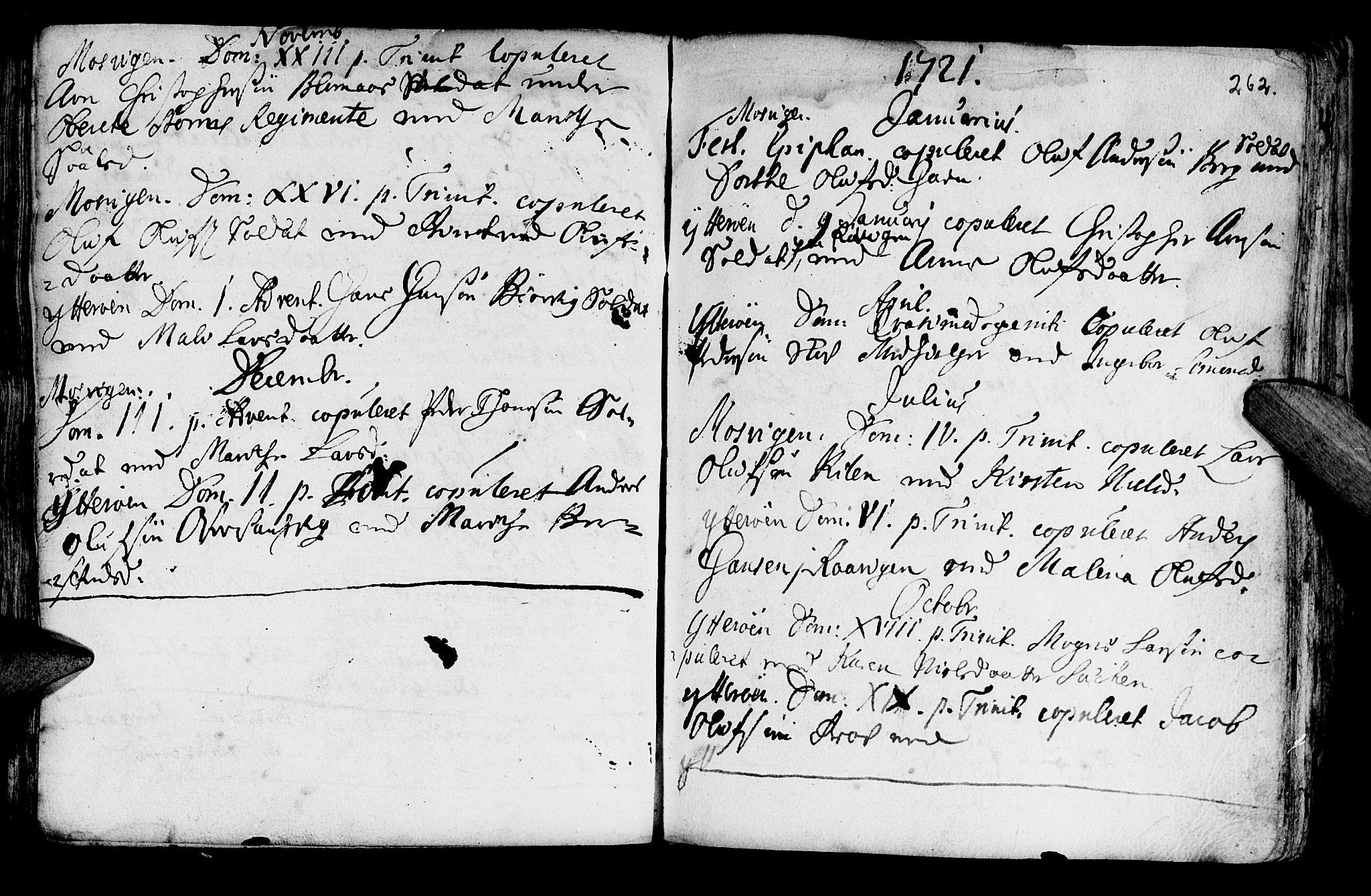 SAT, Ministerialprotokoller, klokkerbøker og fødselsregistre - Nord-Trøndelag, 722/L0215: Ministerialbok nr. 722A02, 1718-1755, s. 262