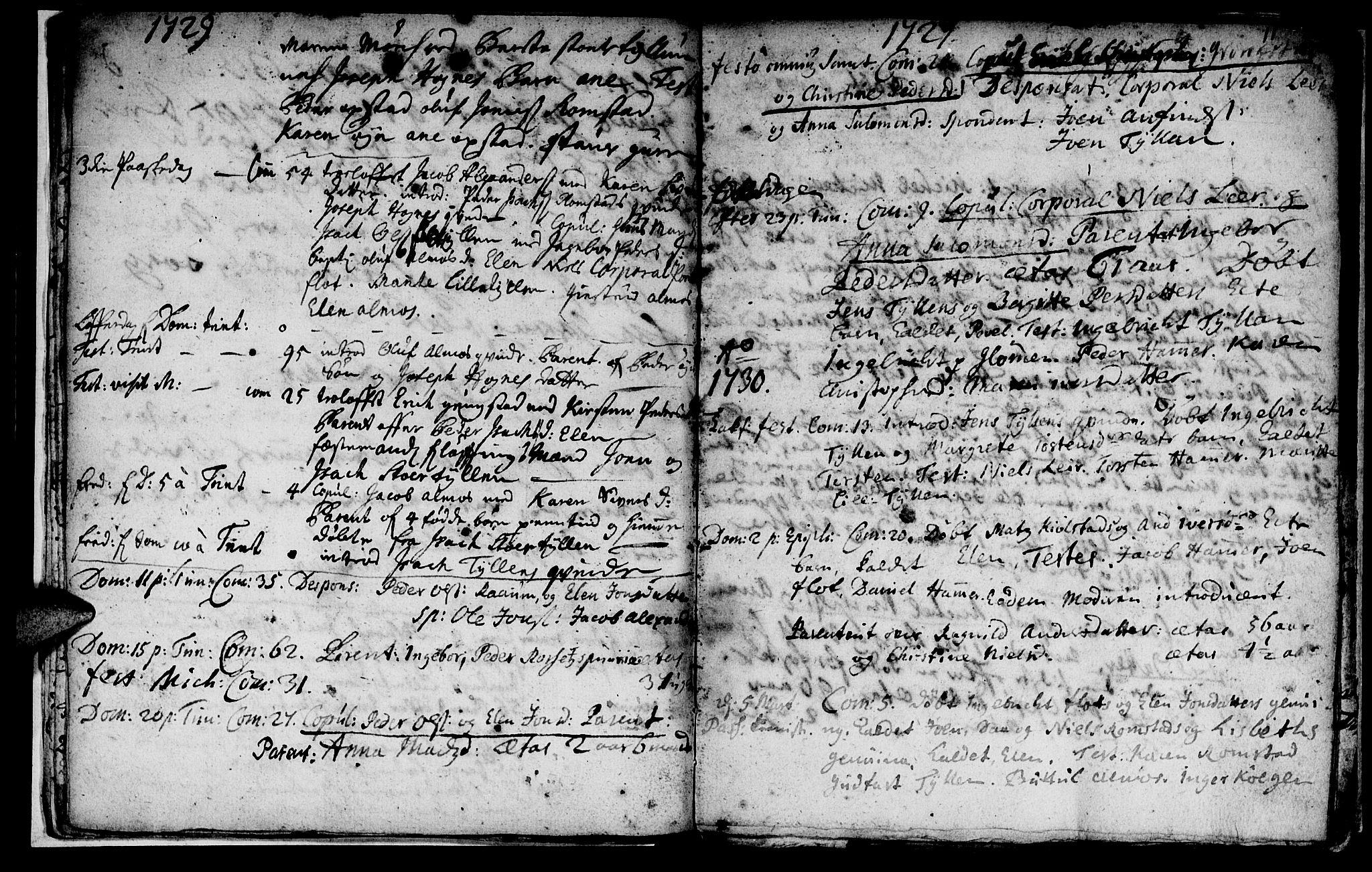 SAT, Ministerialprotokoller, klokkerbøker og fødselsregistre - Nord-Trøndelag, 765/L0560: Ministerialbok nr. 765A01, 1706-1748, s. 11
