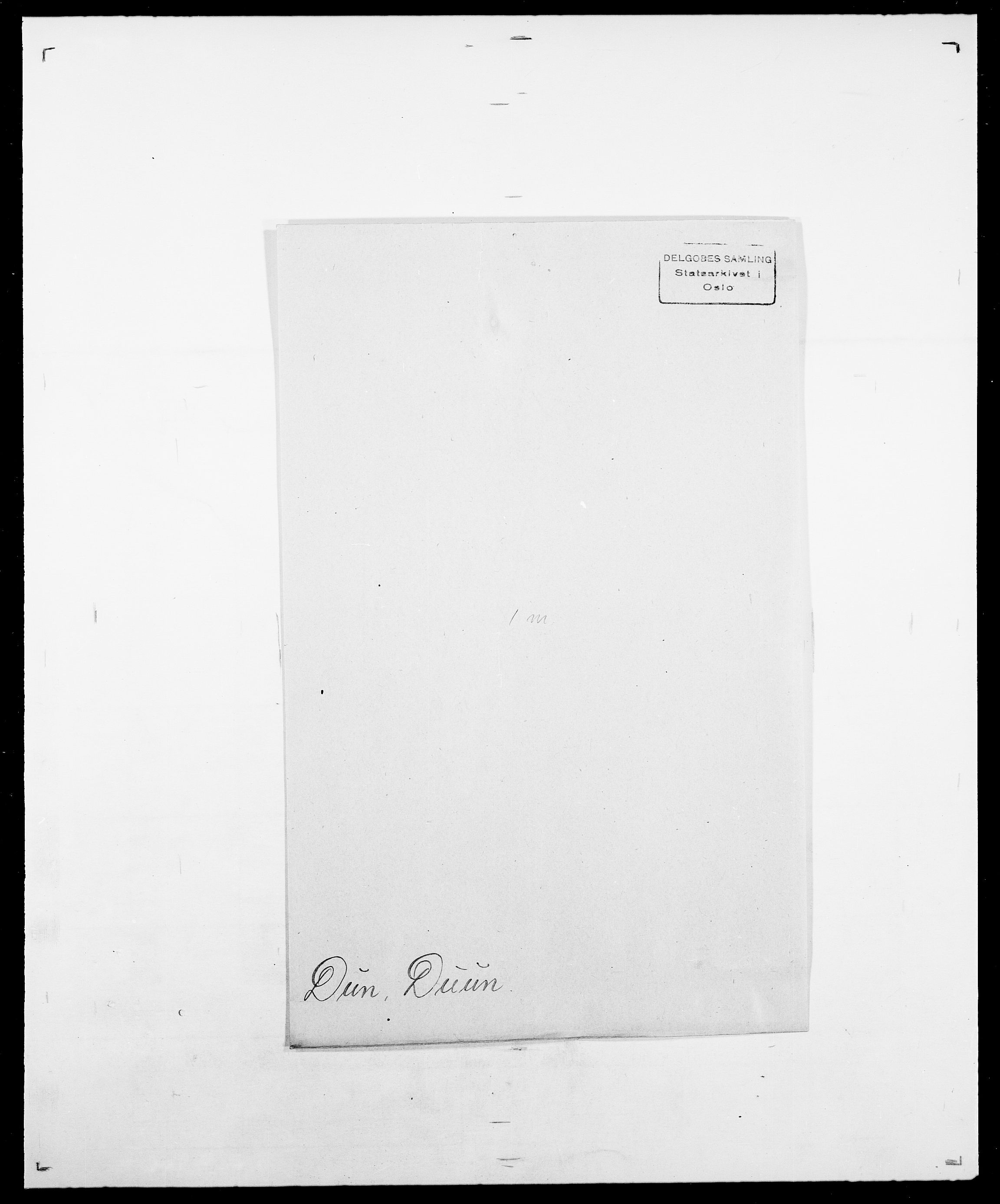 SAO, Delgobe, Charles Antoine - samling, D/Da/L0009: Dahl - v. Düren, s. 837