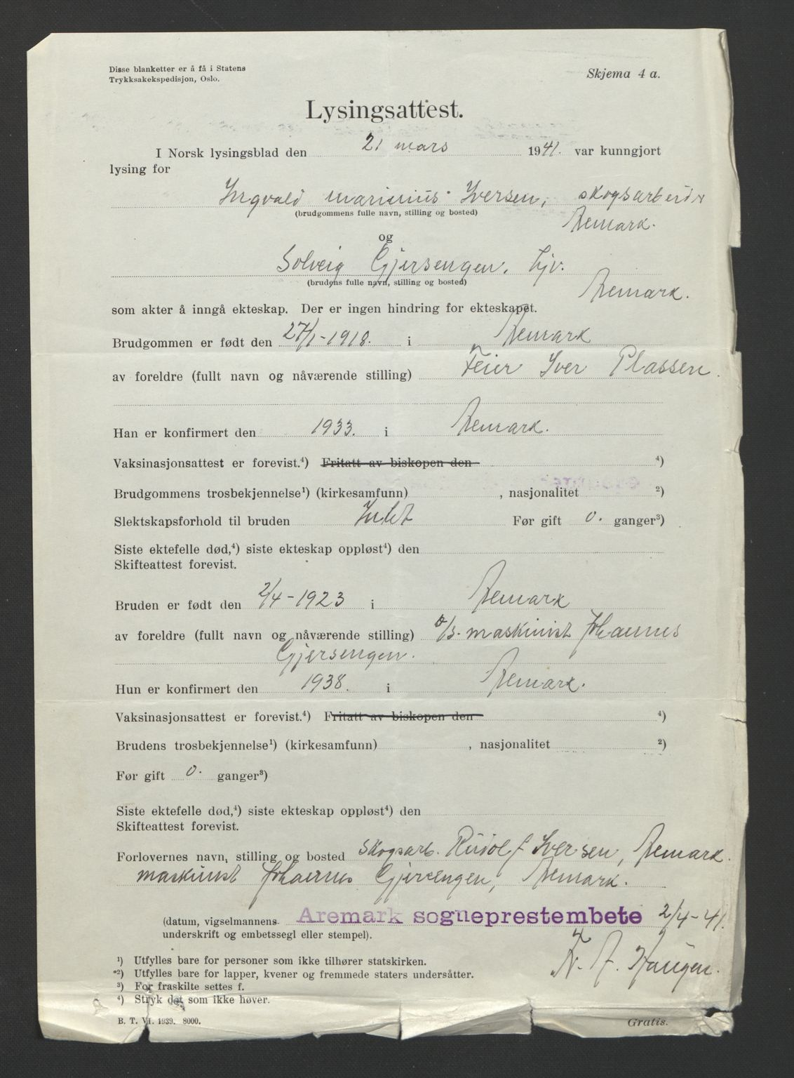 SAO, Idd og Marker sorenskriveri, L/Lc/L0001: Vigselsbøker, 1920-1942, s. upaginert