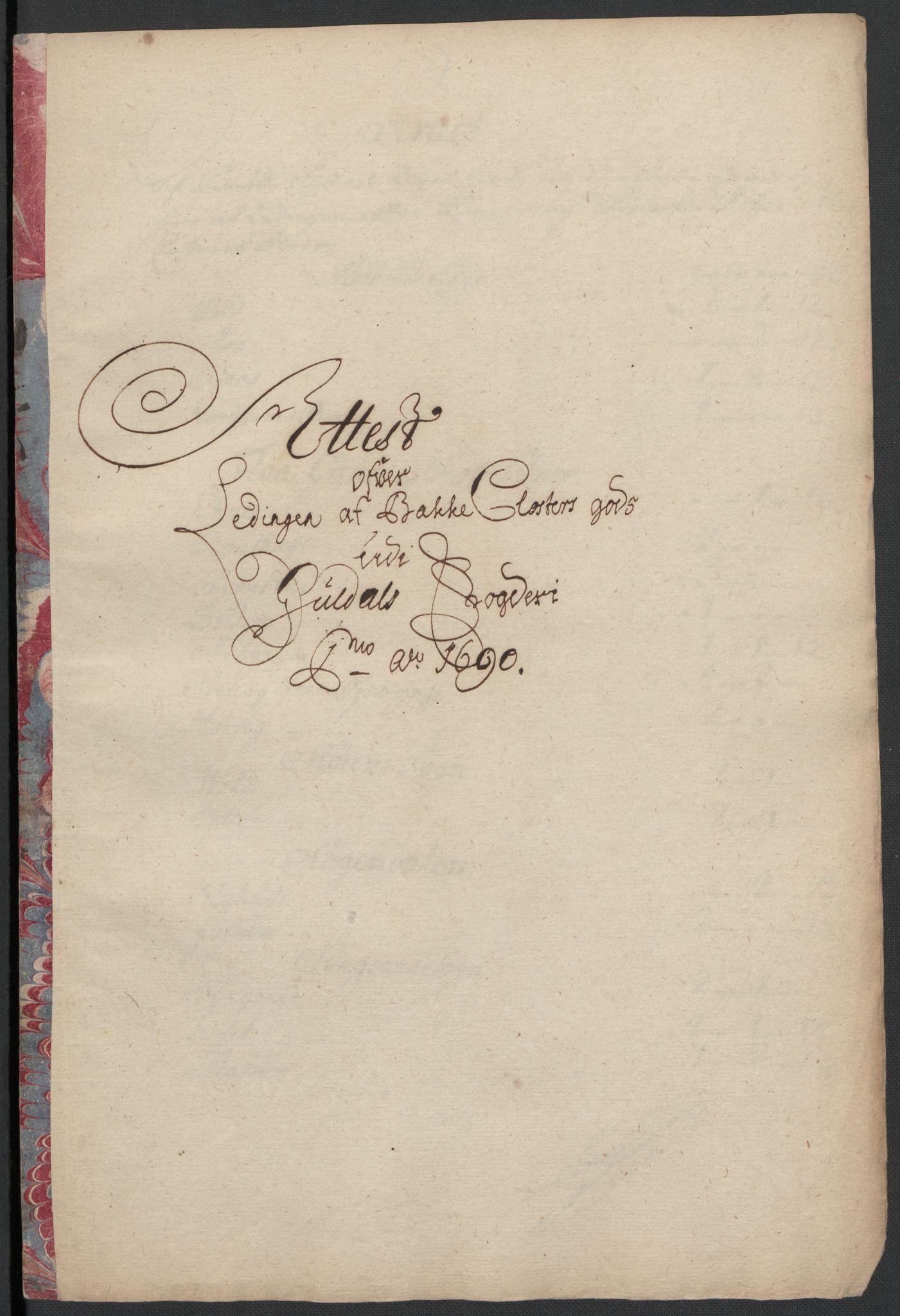 RA, Rentekammeret inntil 1814, Reviderte regnskaper, Fogderegnskap, R59/L3940: Fogderegnskap Gauldal, 1689-1690, s. 394