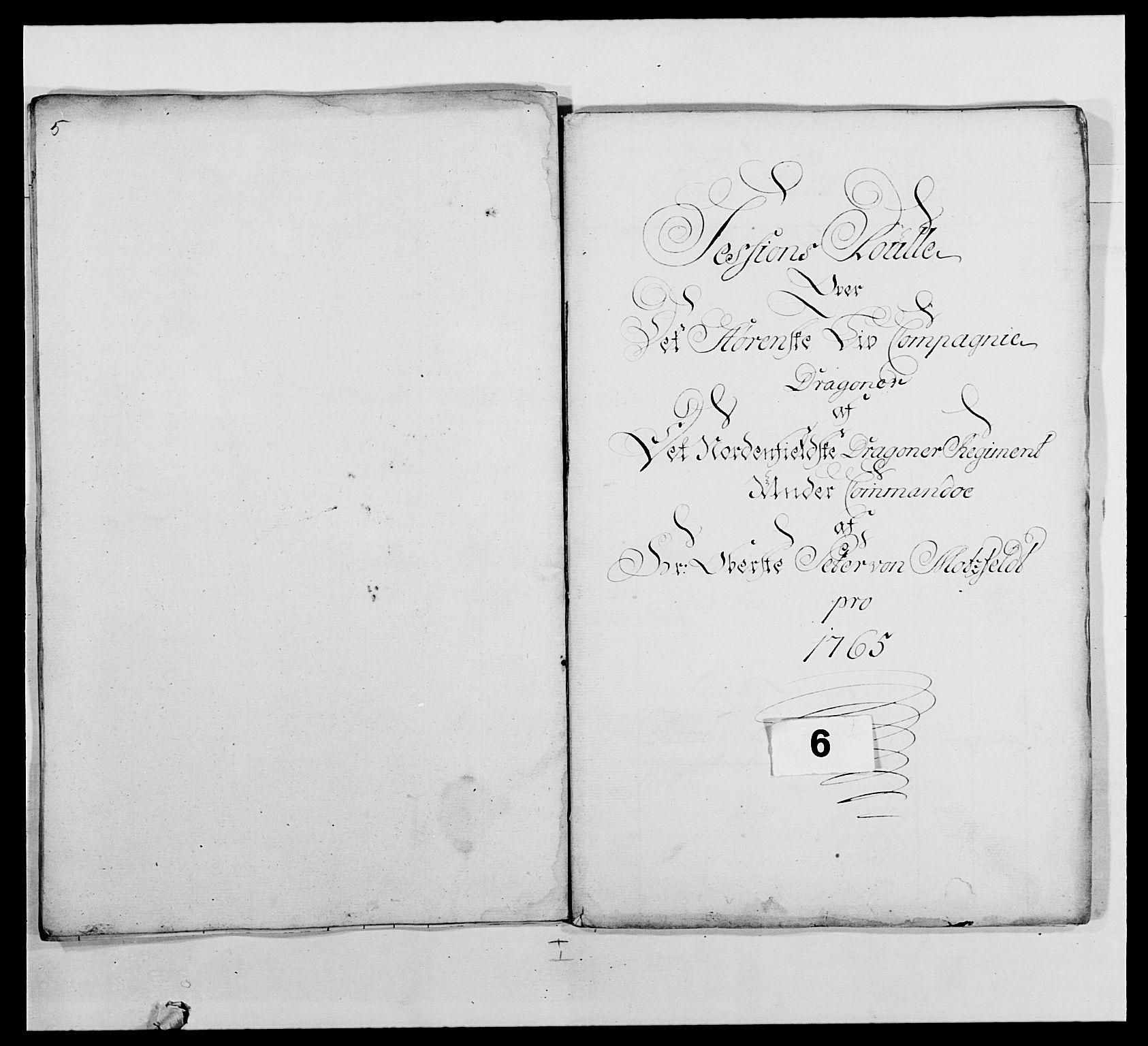 RA, Kommanderende general (KG I) med Det norske krigsdirektorium, E/Ea/L0483: Nordafjelske dragonregiment, 1765-1767, s. 108